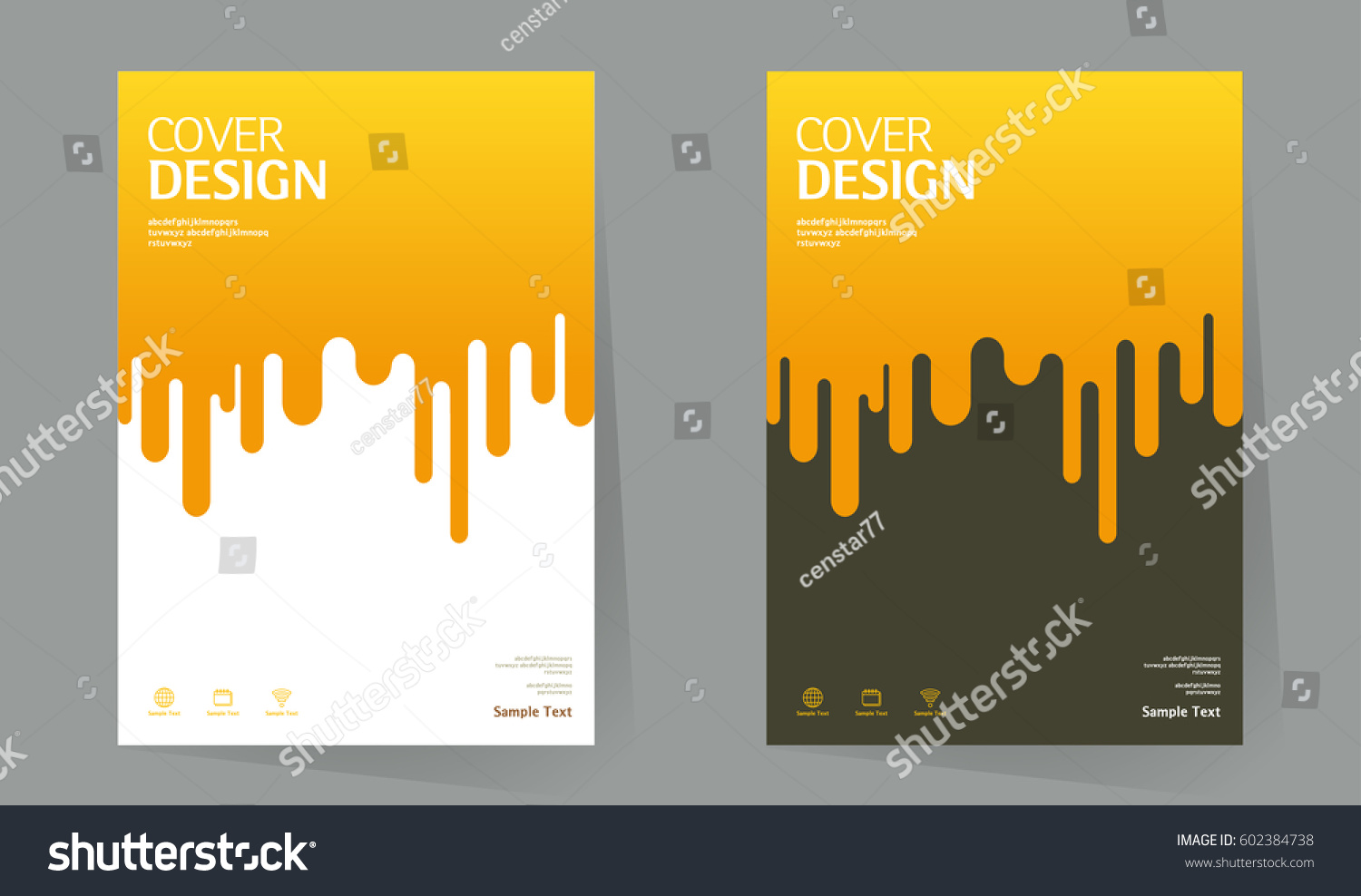 Book Cover Layout Levels ~ Annual report design layout book cover stock vector