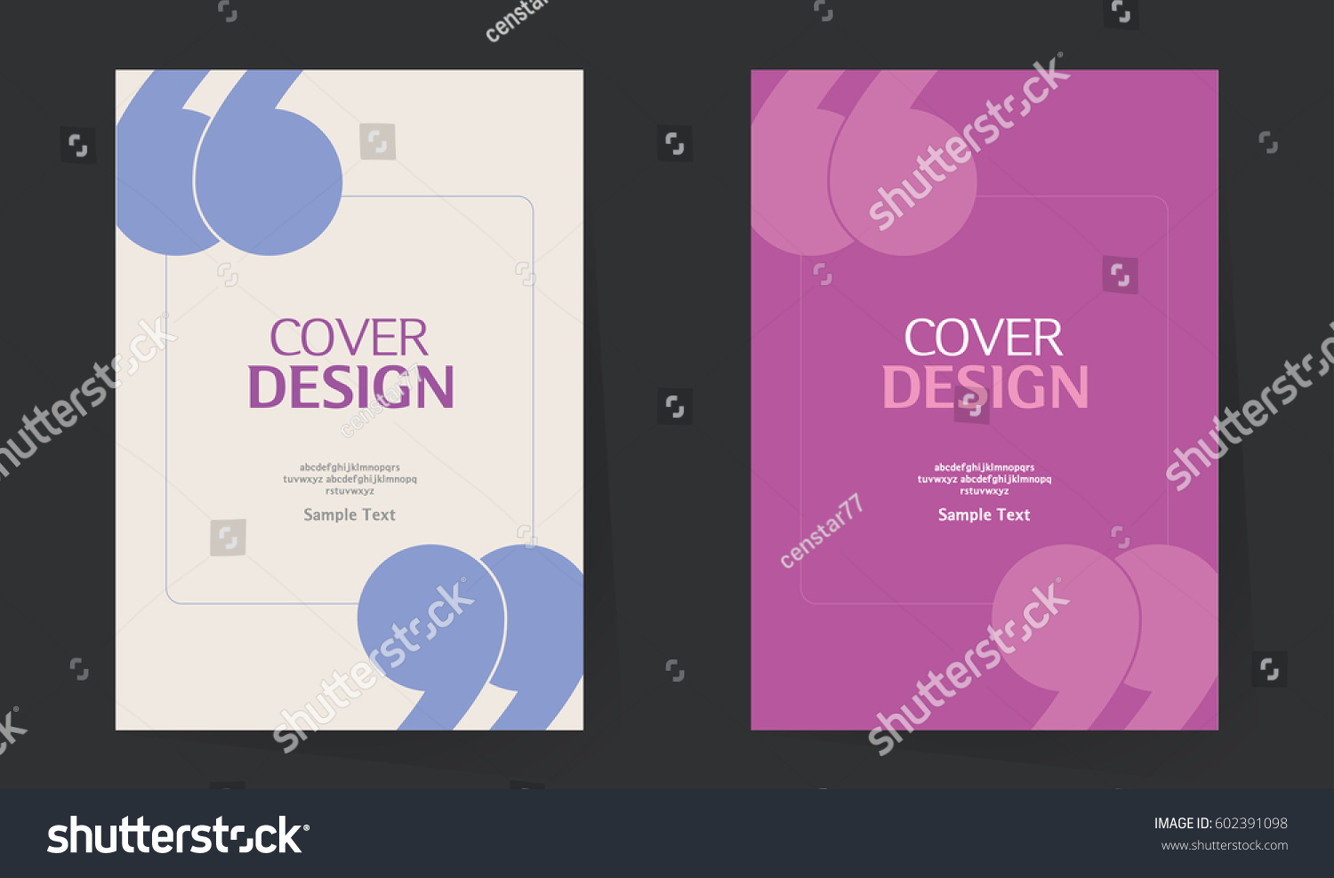 Book cover design vector template a4 stock vector for Brochure design quotation
