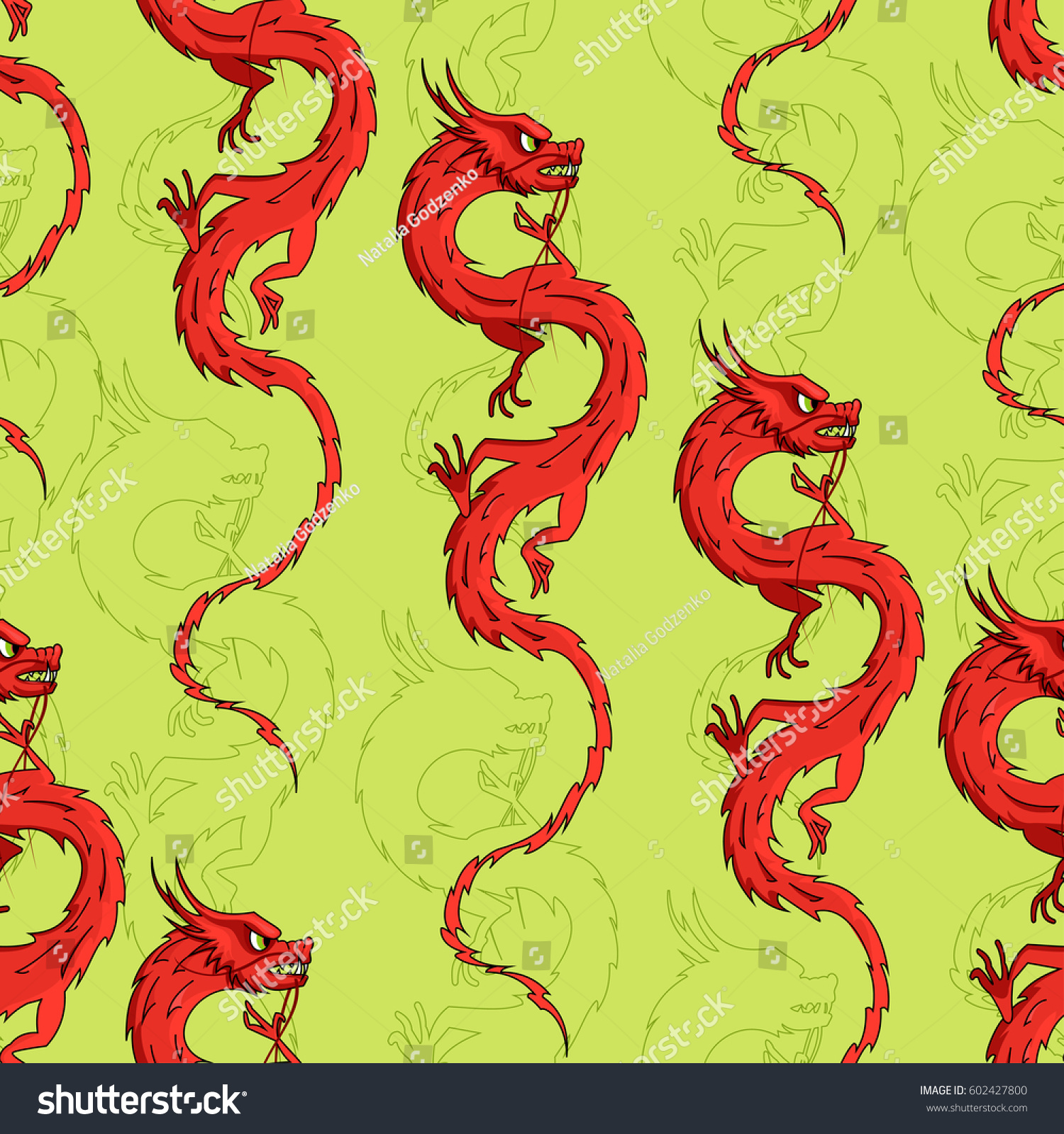 Seamless pattern dragons chinese dragon seamless stock vector seamless pattern with dragons chinese dragon seamless pattern traditional symbol biocorpaavc