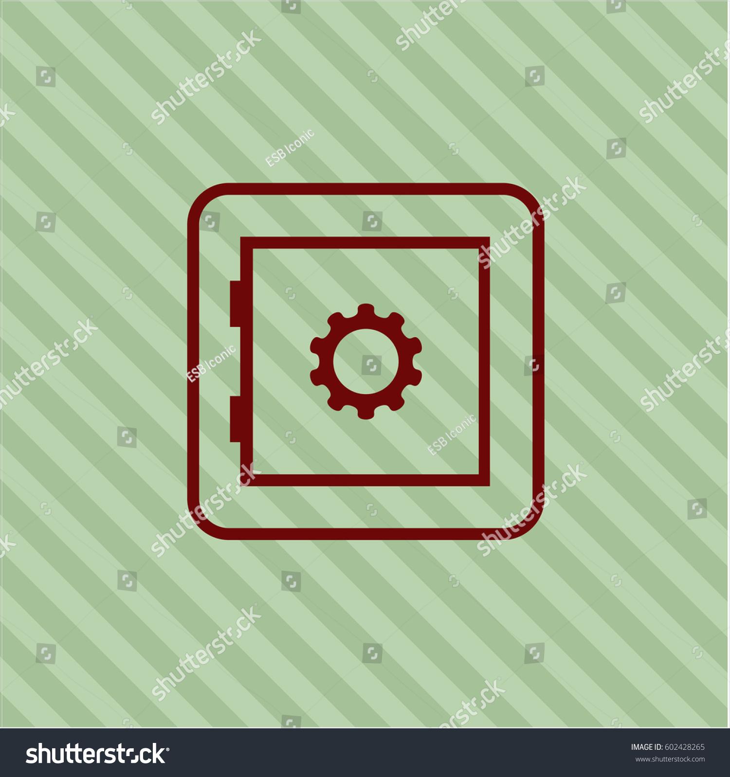 Vector illustration bank safe vector symbol stock vector 602428265 vector illustration of bank safe vector symbol in maroon color biocorpaavc Gallery