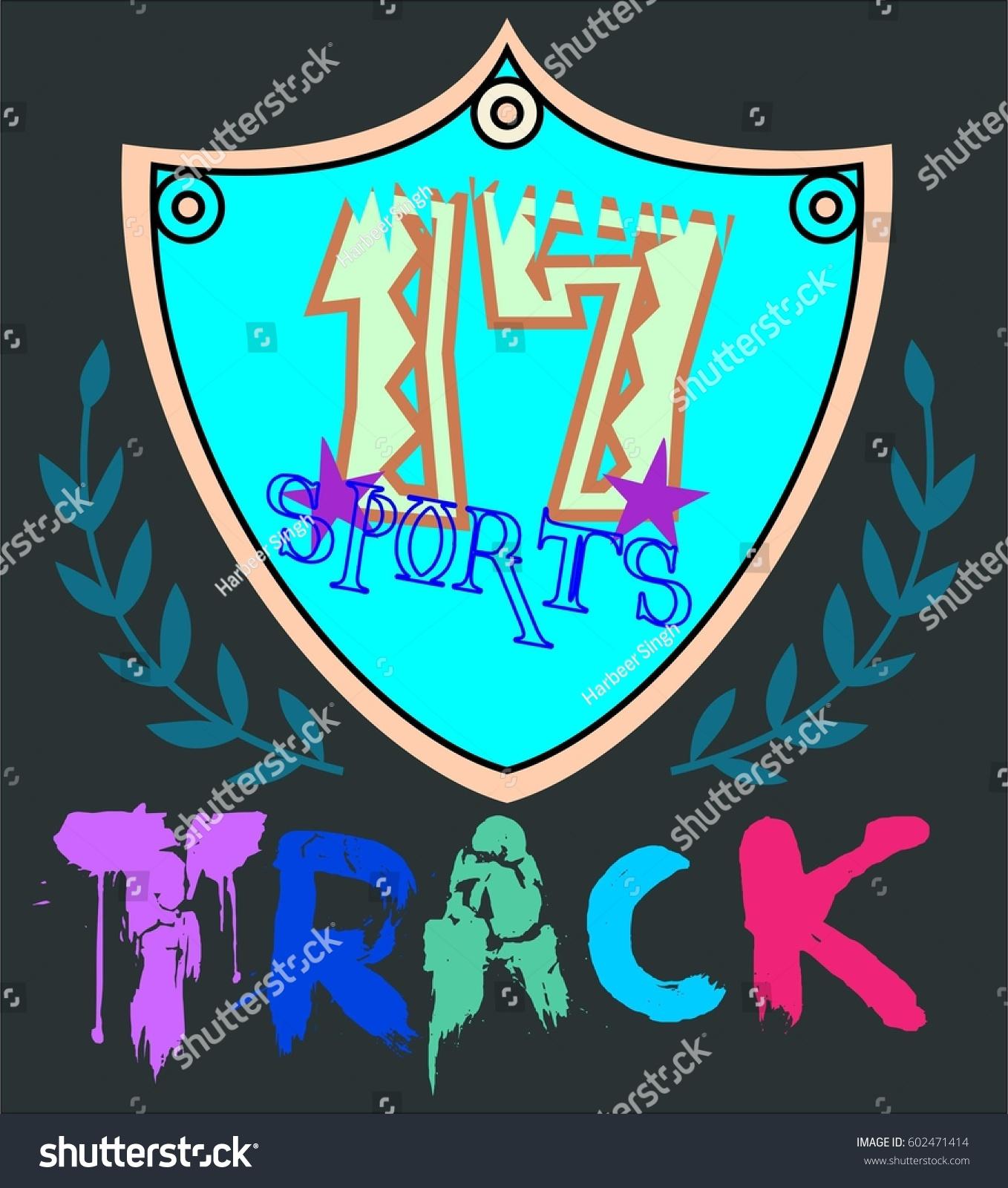 Track Sports Vector Tshirt Design Stock Vector Royalty Free
