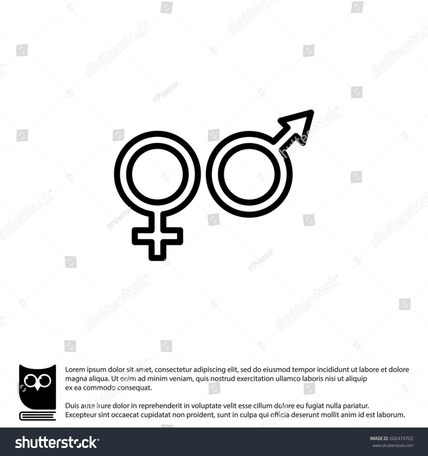 Web line icon gender symbol symbols stock vector 602474702 gender symbol symbols of men and women buycottarizona