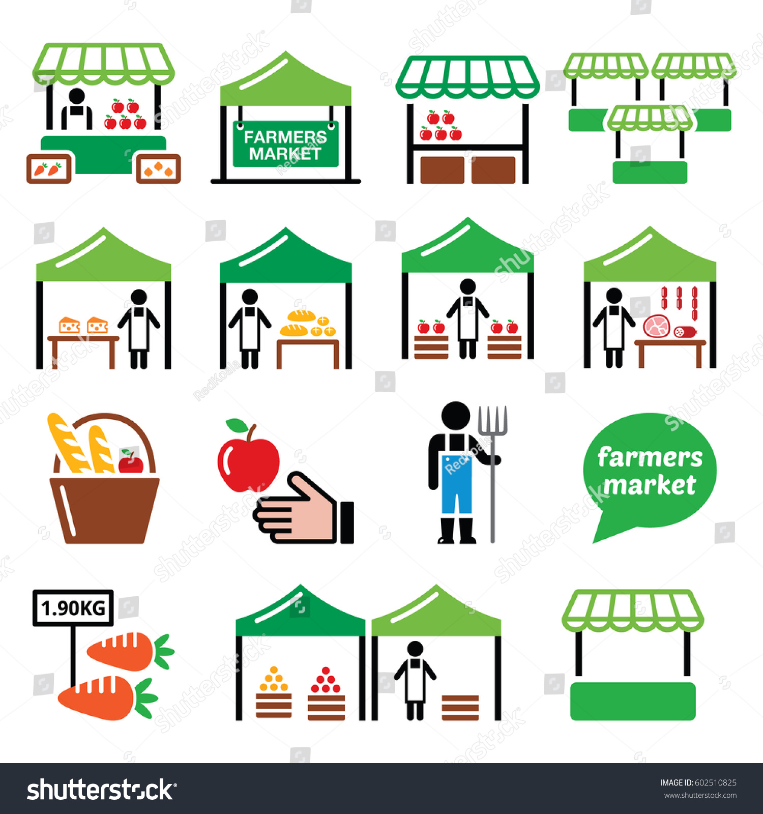 Local Food Market And Eco Friendly