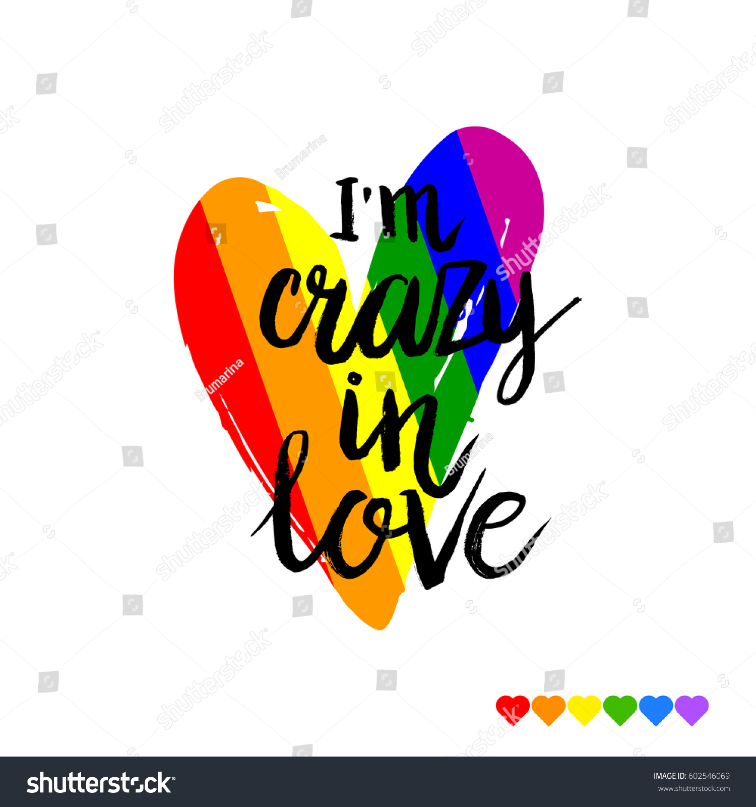 Hand Drawn Phrase Crazy Love On Stock Vector Royalty Free