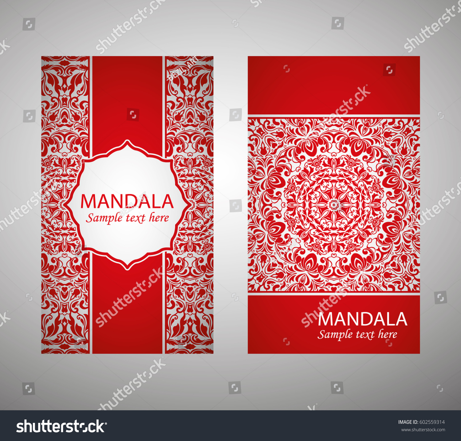 Flyer Flyer Cover Pattern Mandala Red Stock Vector (Royalty Free ...