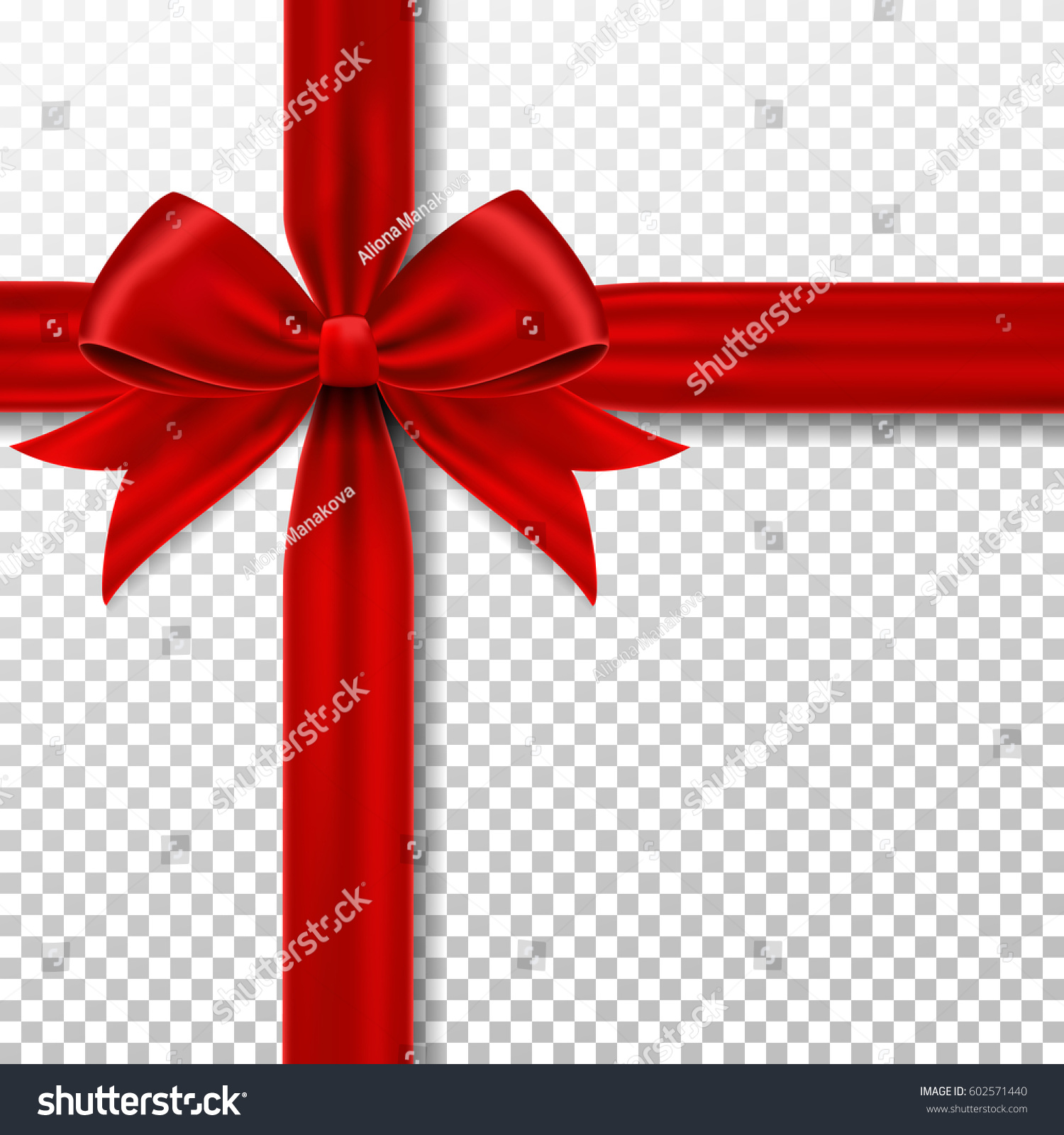 Red gift ribbon bow stock vector 602571440 shutterstock red gift ribbon and bow negle Images
