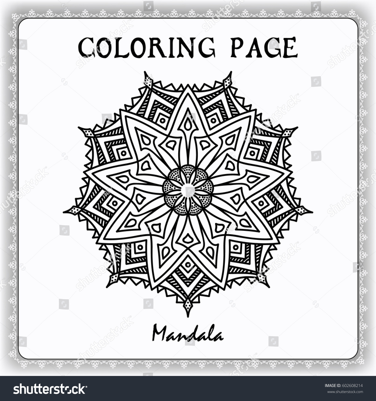 Coloring Book Pages Mandala For Painting Vector Ethnic Oriental Circle Ornament Great