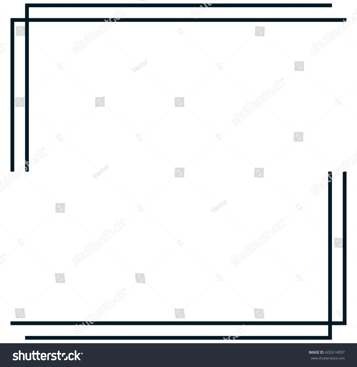 Square Frame Border Vector Vintage Banner Stock Vector