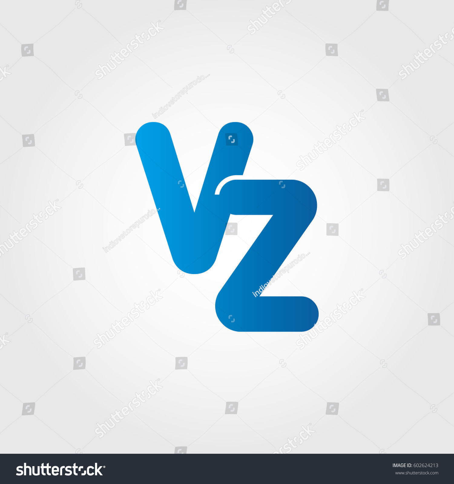 Logo letters vz blue stock vector 602624213 shutterstock logo letters vz blue biocorpaavc Image collections