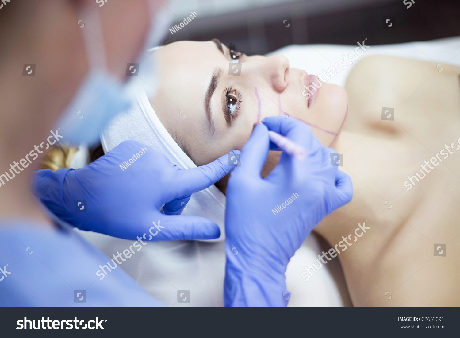 Cosmetic treatments skin beauty salon woman stock photo for A trial beauty treatment salon