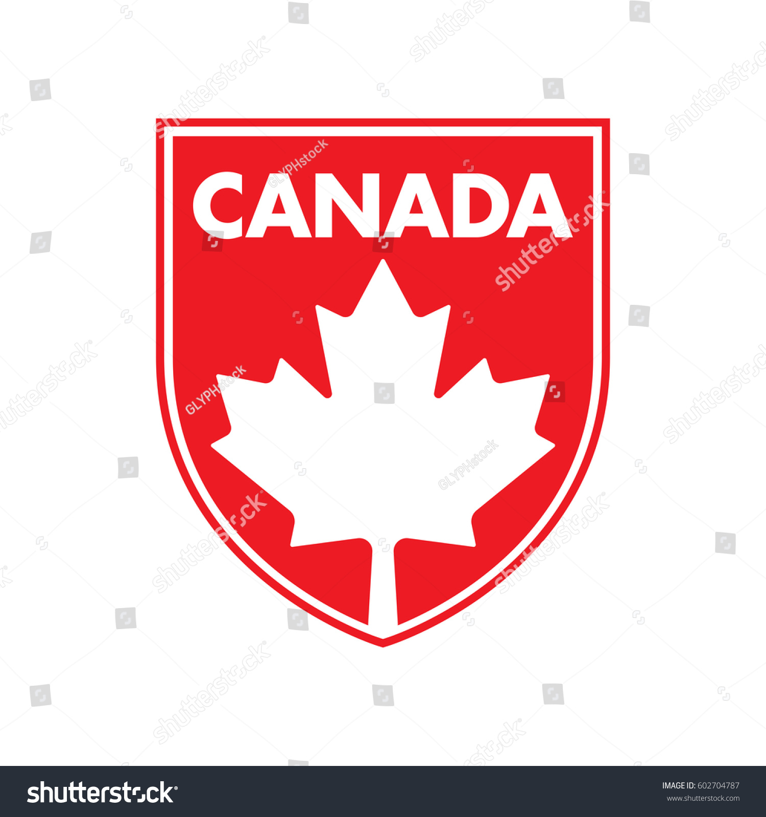 canadian patch featuring maple leaf vector stock vector 602704787