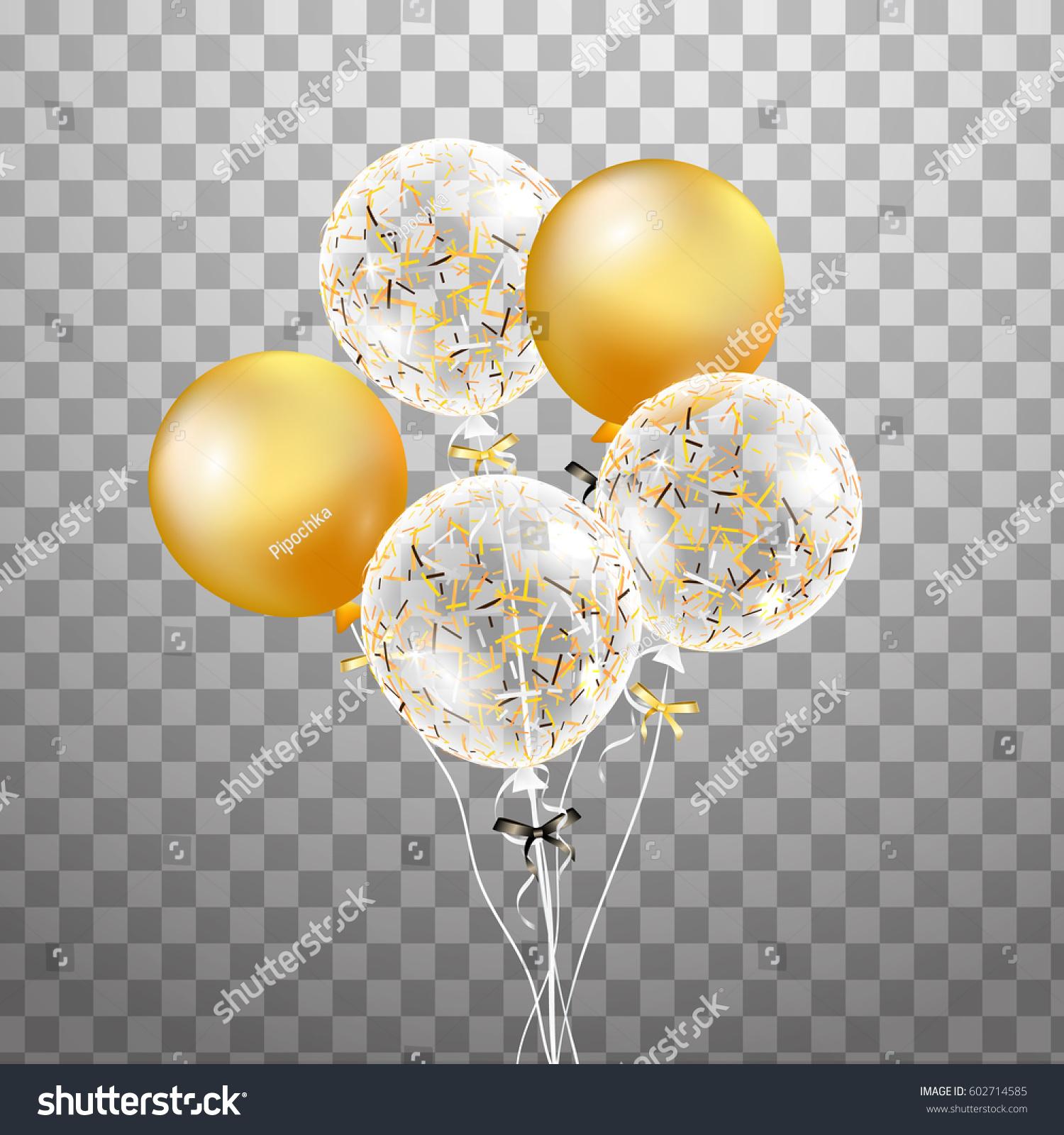 3 D Holiday Bunch Birthday White Balloons Stockillustration