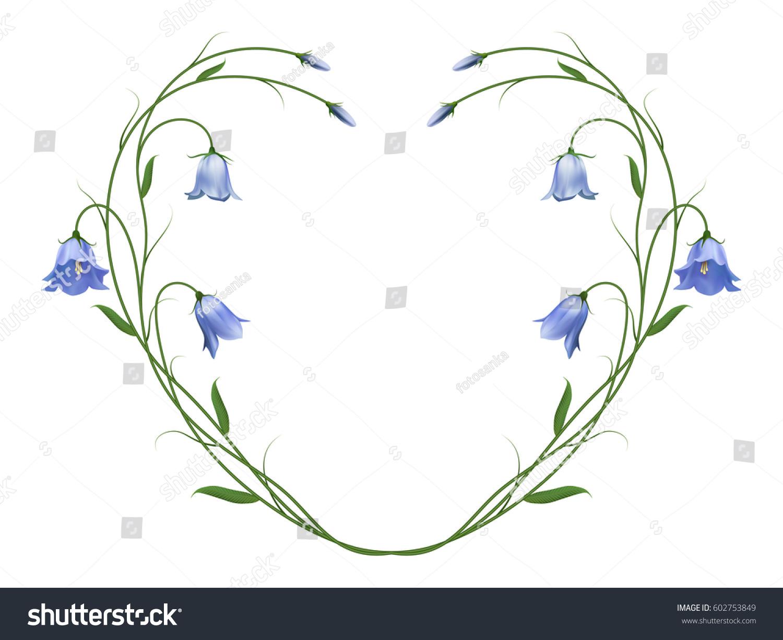 Realistic bluebells symbol love honesty heart stock vector realistic bluebells the symbol of love and honesty heart buycottarizona