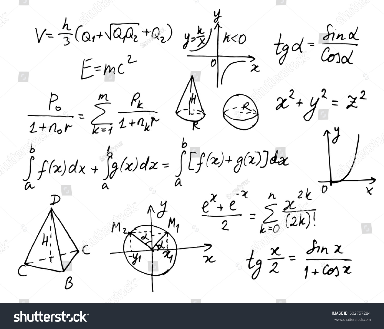 Mathematical doodle elements graphics formulas symbols stock mathematical doodle elements with graphics formulas and symbols black ink sketch biocorpaavc Image collections