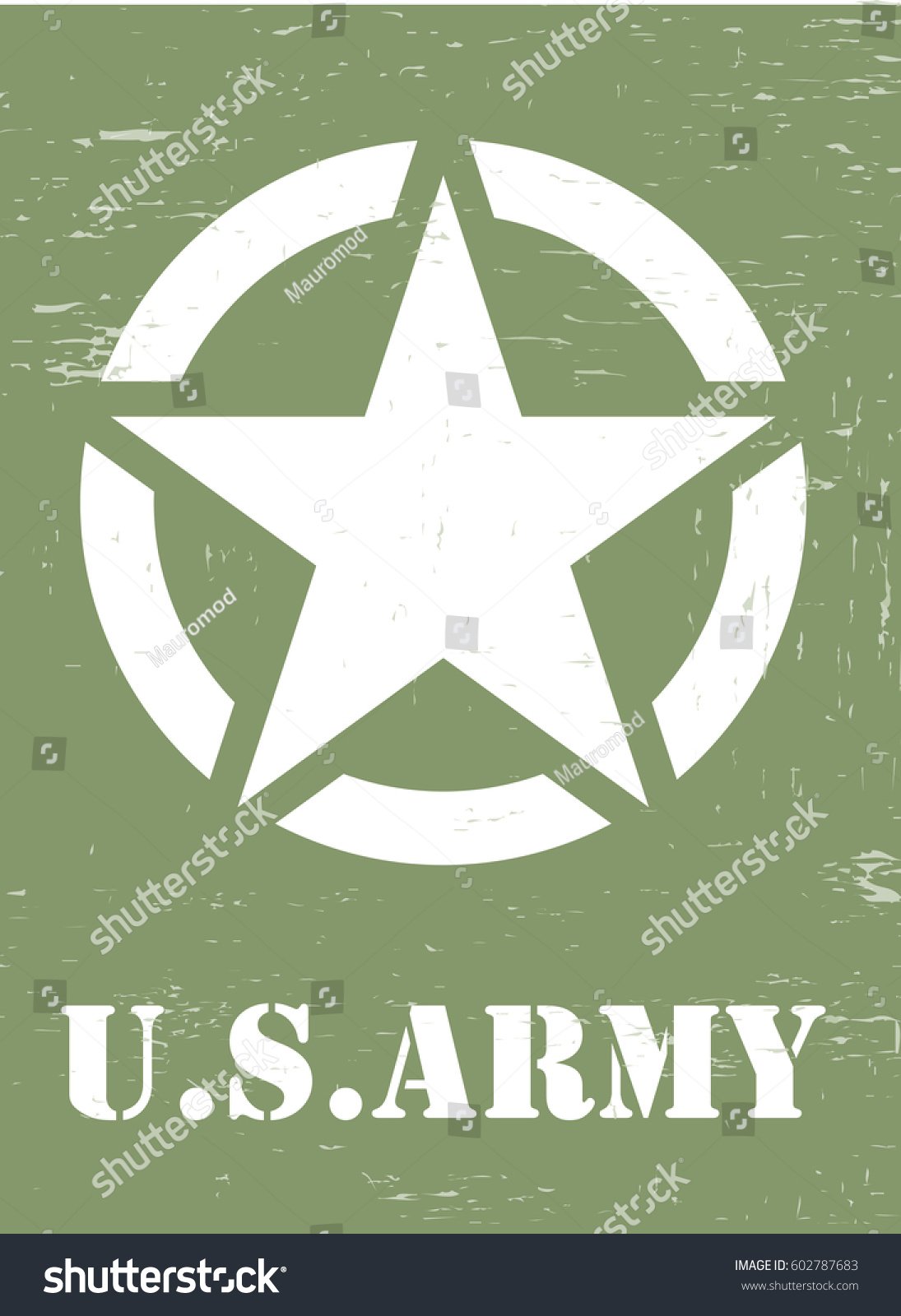 Us Army Symbol Stock Vector Royalty Free 602787683 Shutterstock