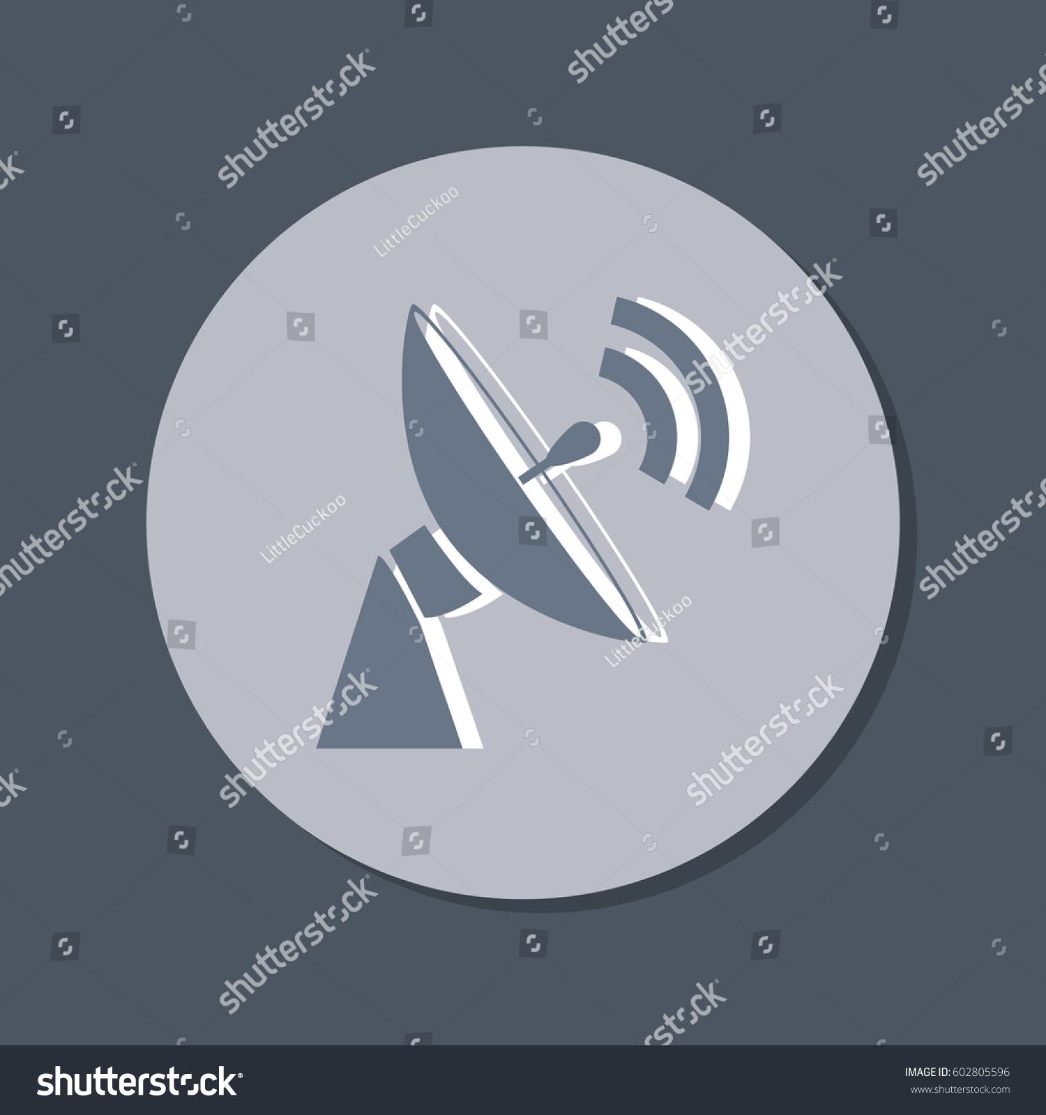 Satellite Dish Icon Radar Sign Antenna Stock Vector Royalty Free