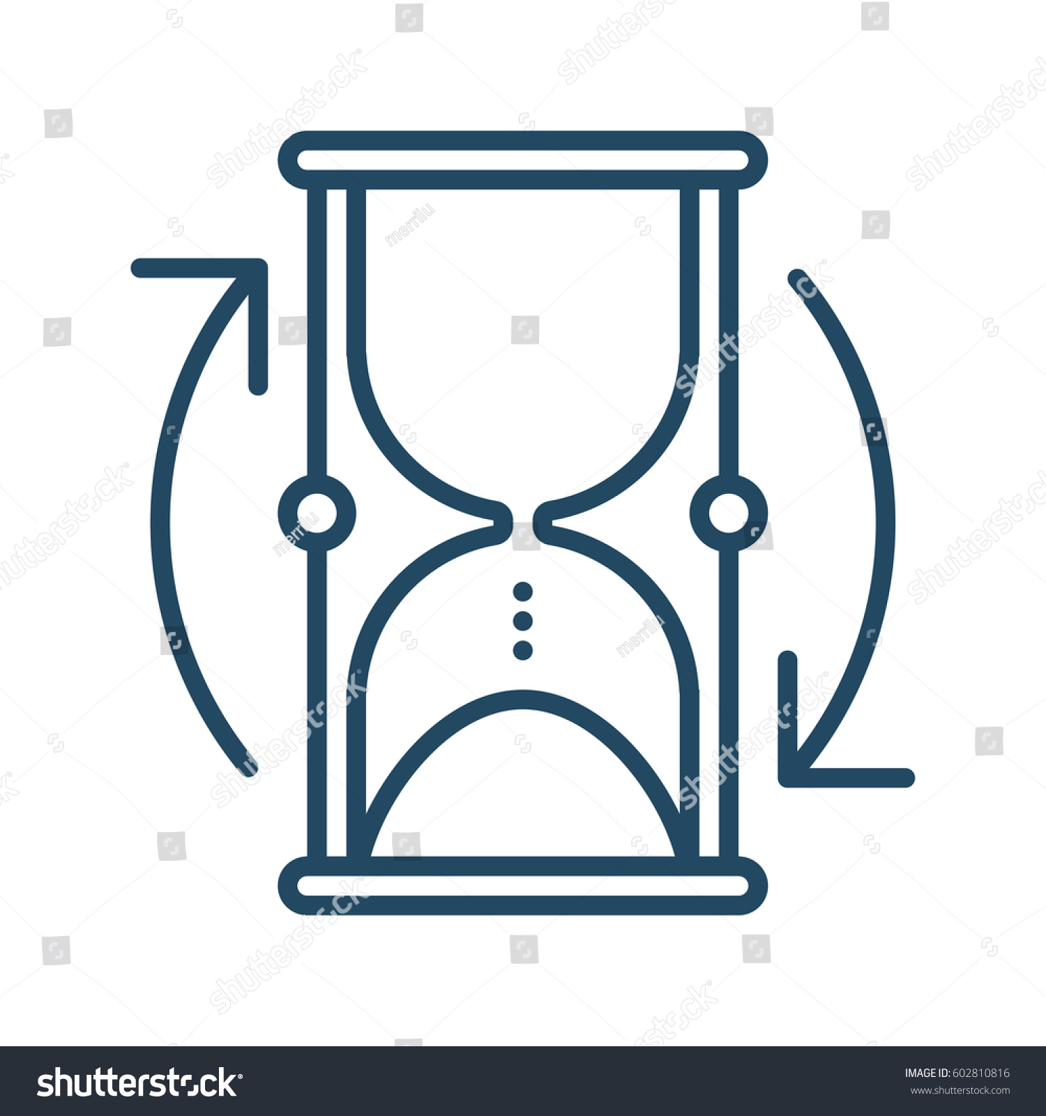 Hourglass arrows vector icon meaning start stock vector 602810816 hourglass and arrows vector icon in meaning start over biocorpaavc Images
