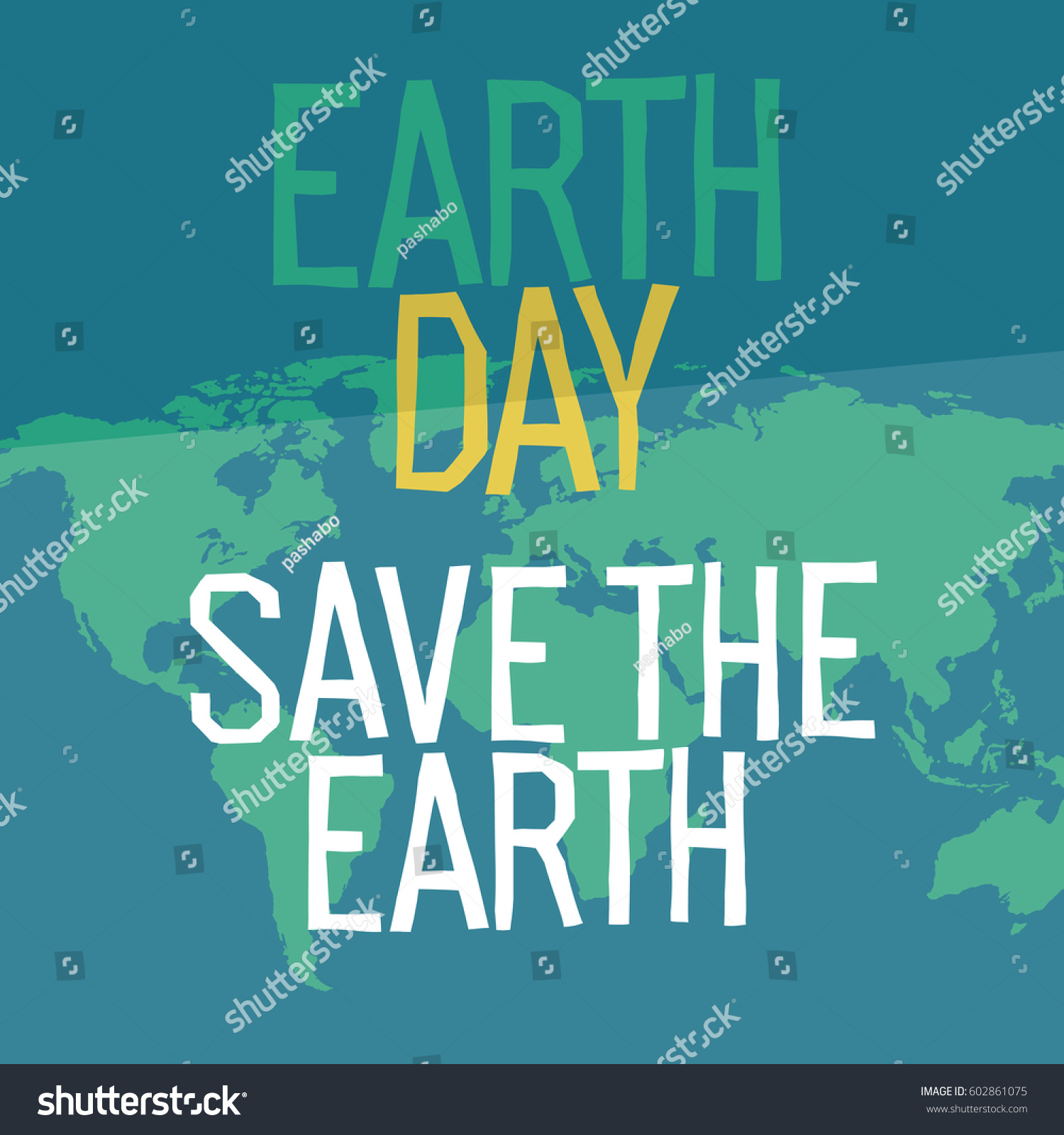Earth day poster design flat style vectores en stock 602861075 earth day poster design in flat style similar world map background vector illustration save gumiabroncs Gallery