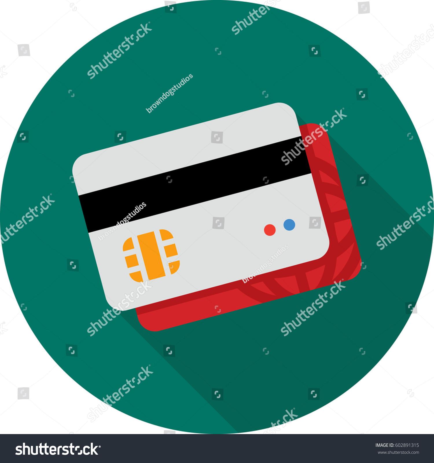 Credit Card Integrated Circuit Symbol Stock Vector Royalty Free
