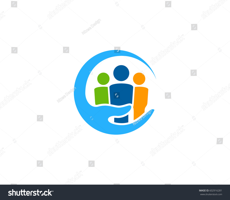 Family Care Logo Design Element Stock Vector 602916281
