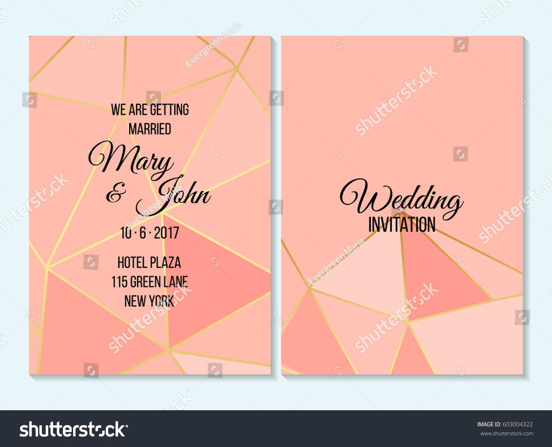 Wedding Invitation Baby Shower Menu Flyer Stock Vector Royalty Free