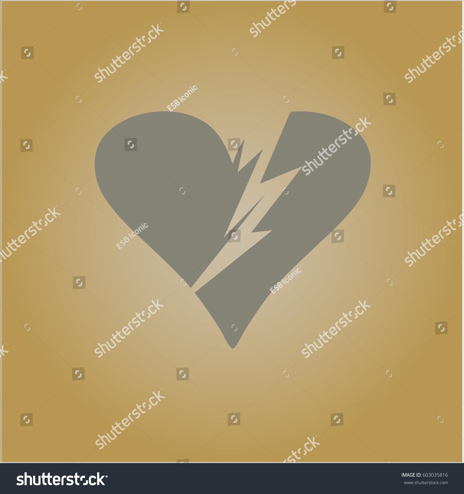 Vector illustration broken heart symbol stock vector 603035816 vector illustration of broken heart symbol buycottarizona