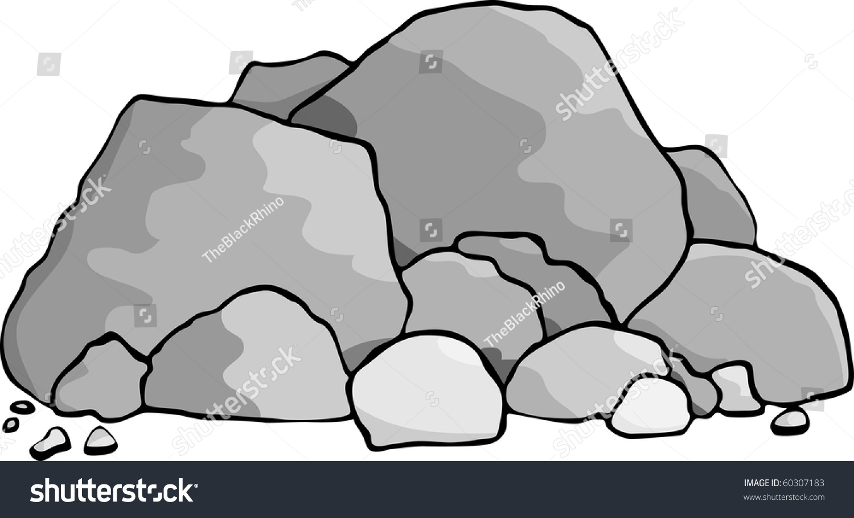cartoon rocks clipart - photo #30