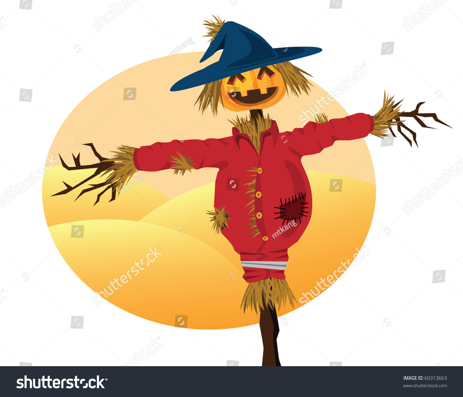 Thanksgiving Themed Pictures Stock Photo Scarecrow Cartoons For Background Related To