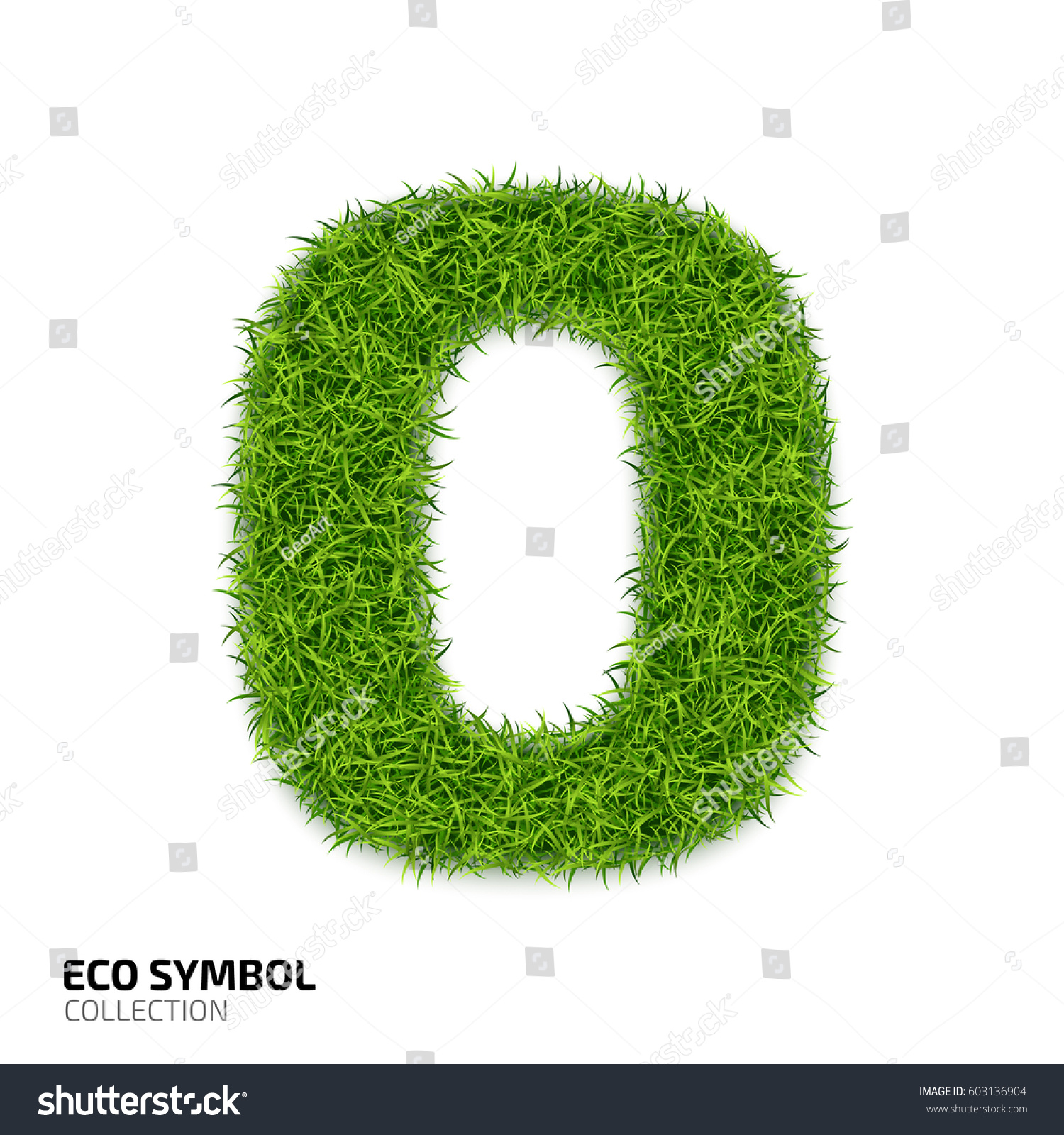 Letter grass alphabet grass letter o stock vector 603136904 grass letter o isolated on white background symbol with the biocorpaavc
