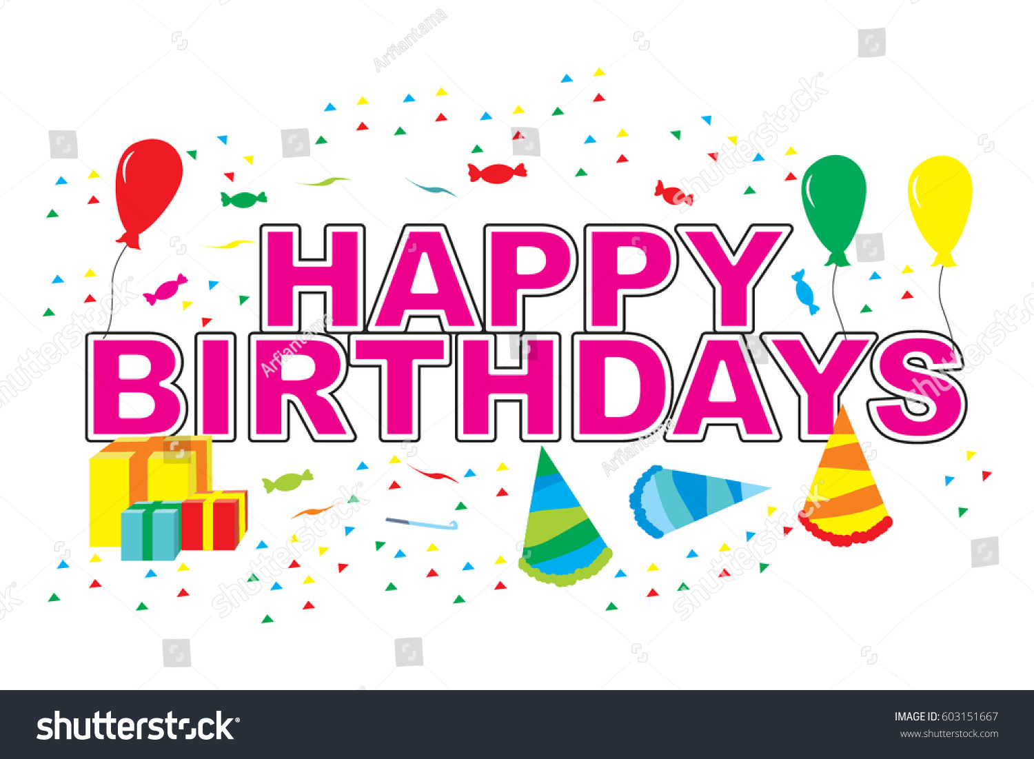 Happy Birthday Typographic Vector Design Greeting Stock Vector HD ...