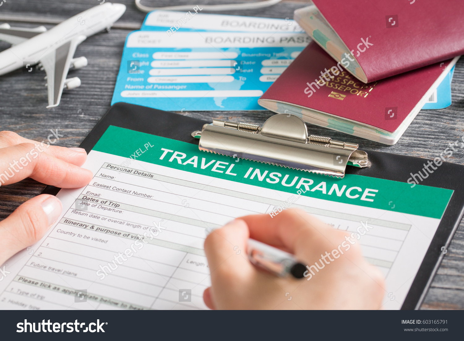 Travel Agent Ticket Safe Plan Trip Stock Photo Royalty Free