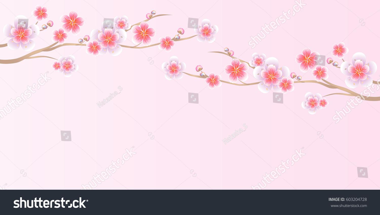 Flower design flower background branches of sakura isolated on id 603204728 mightylinksfo