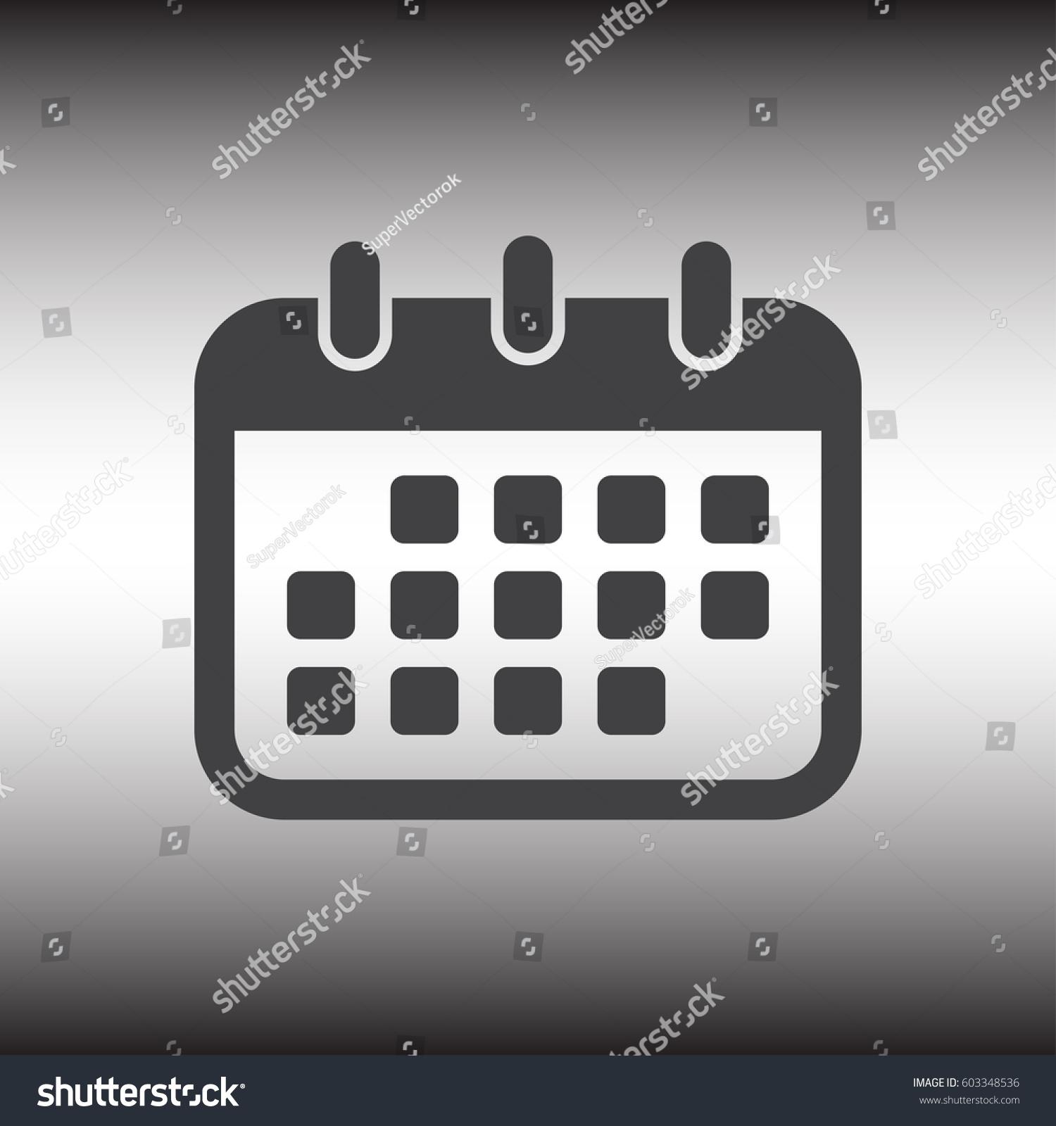 Calendar Flat Illustration : Calendar icon vector illustration flat design stock