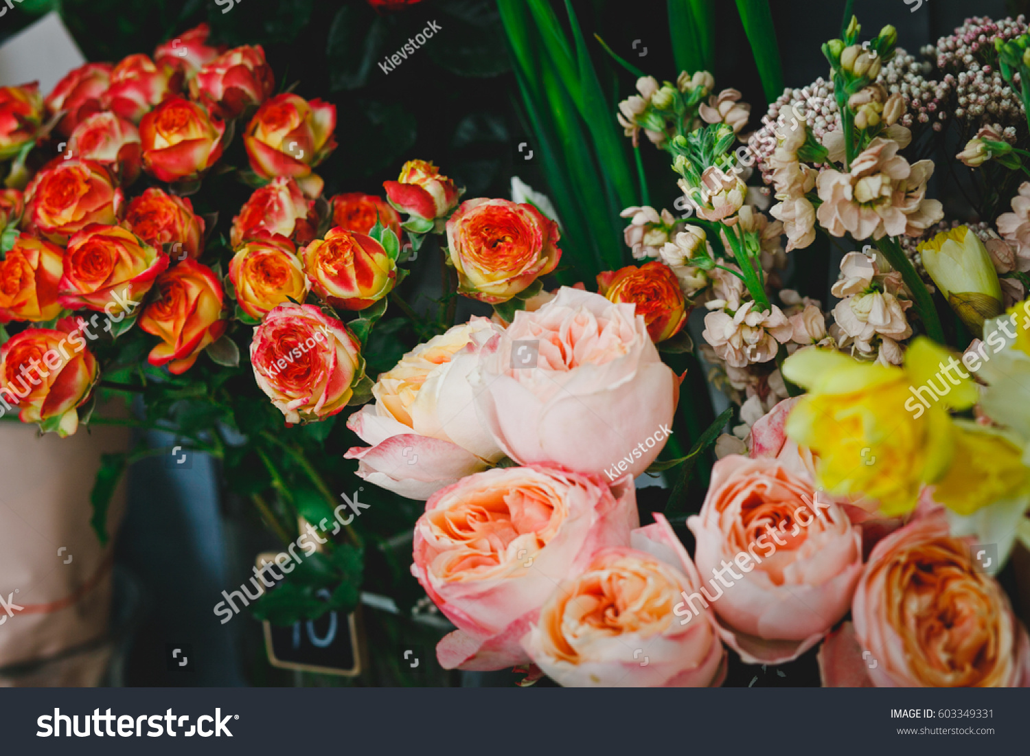 Lots Beautiful Flowers Flower Shop Stock Photo Edit Now 603349331