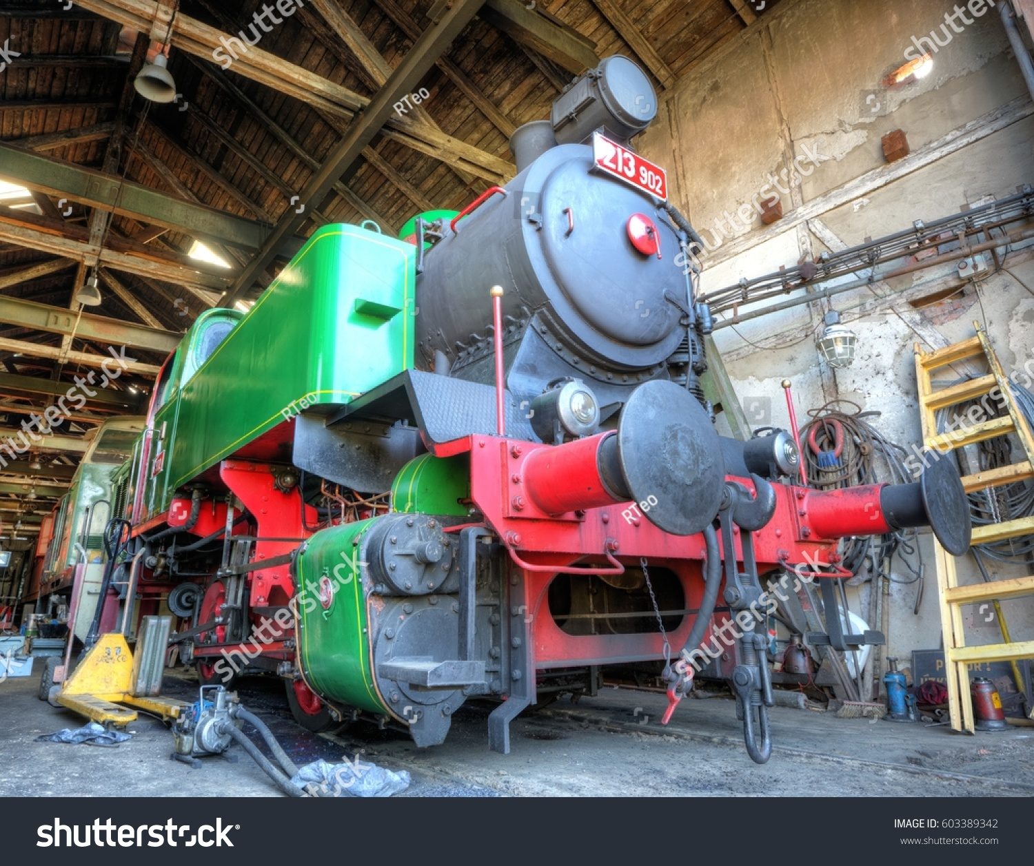Steam Locomotive 213902 Year Manufacture 1947 Stock Photo (Royalty ...