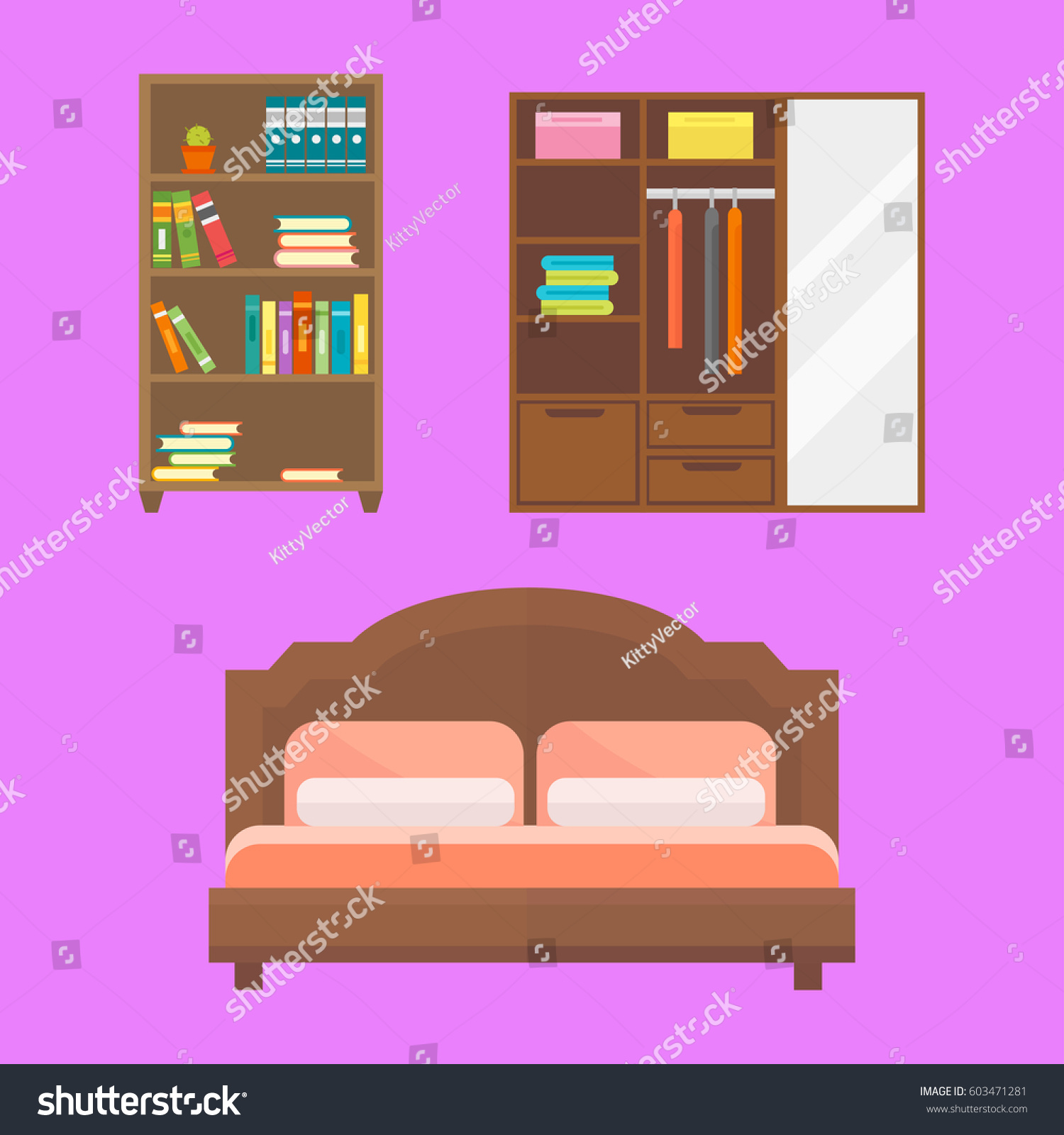 furniture home decor icon set indoor stock vector 603471281 furniture home decor icon set indoor cabinet interior room library office bookshelf modern restroom silhouette decoration