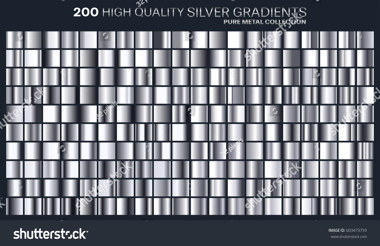 Silver Color Metal Jali Pattern : Silver gradientpatterntemplate colors designcollection