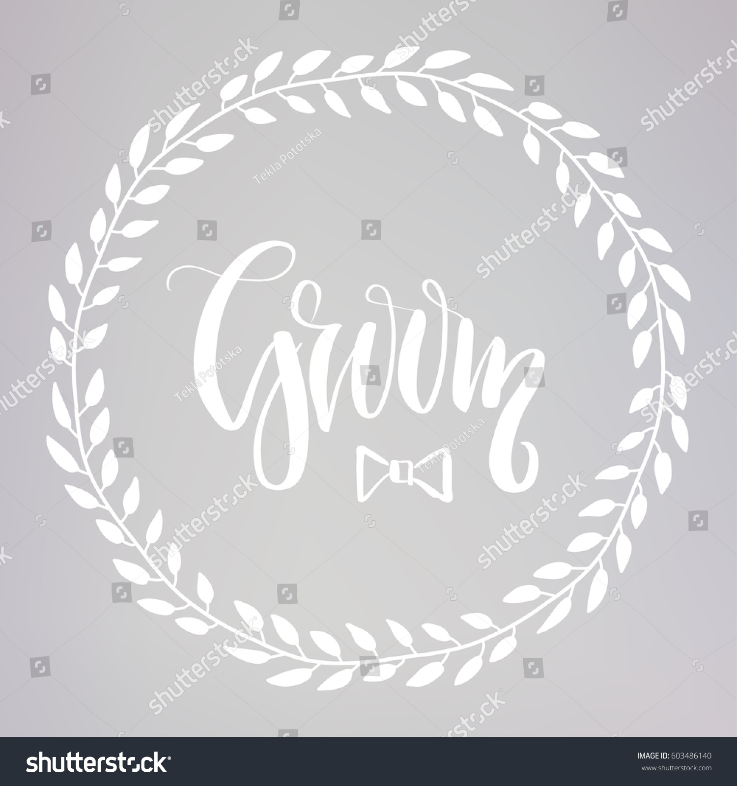 Wedding typography templates groom vector hand stock