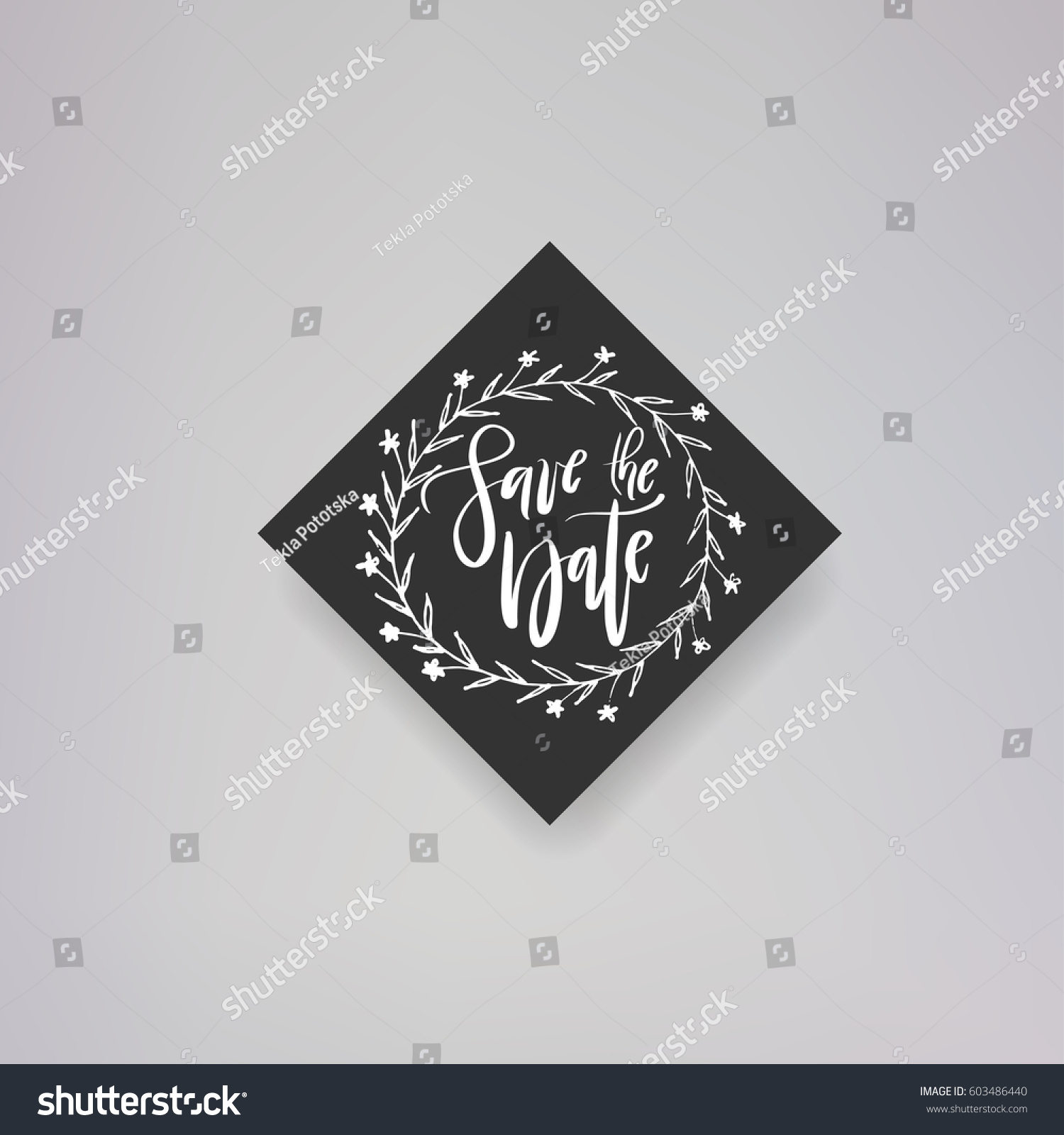 Wedding typography templates vector hand written stock