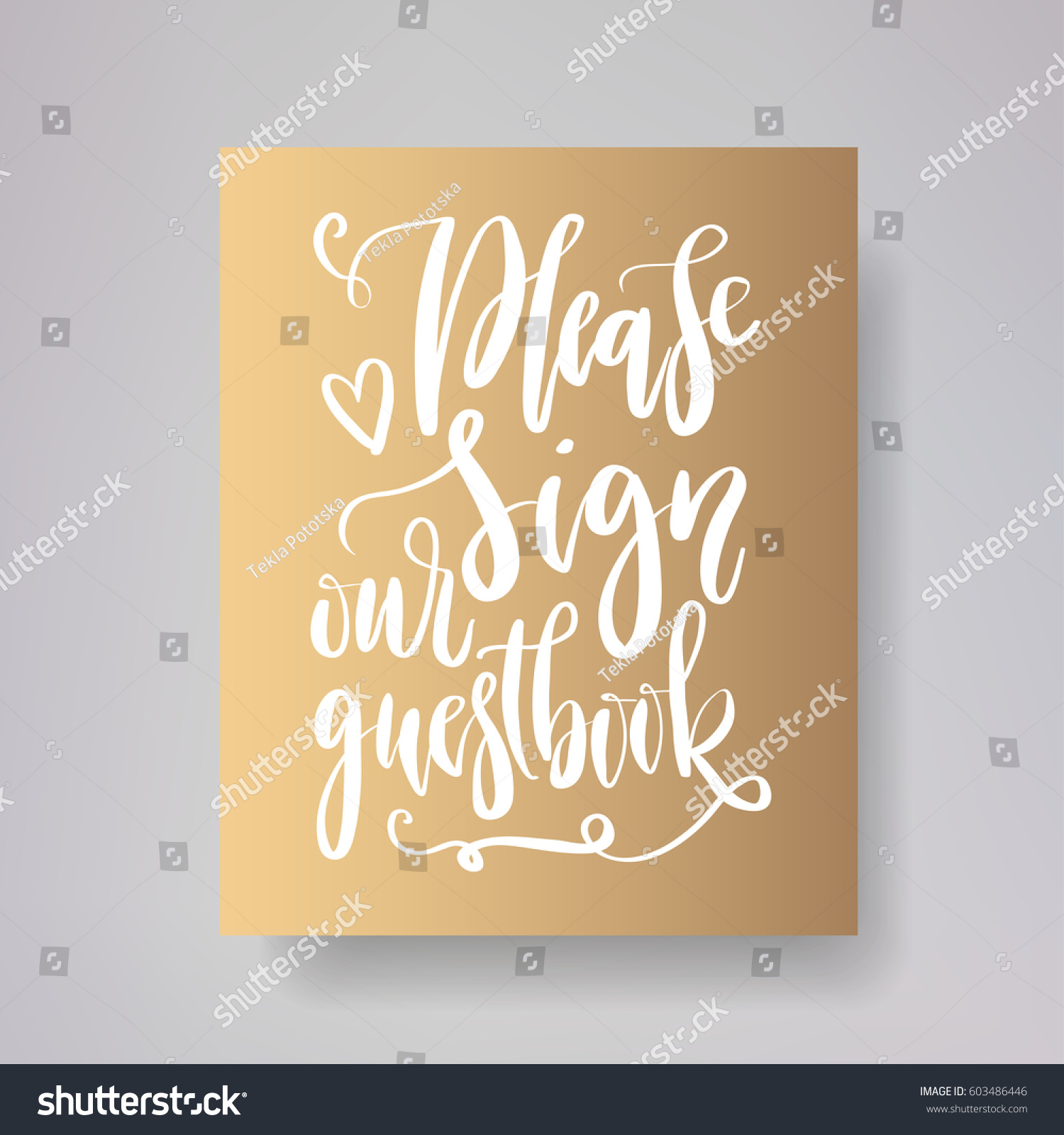 please sign our guestbook wedding typography stock vector 603486446 shutterstock. Black Bedroom Furniture Sets. Home Design Ideas