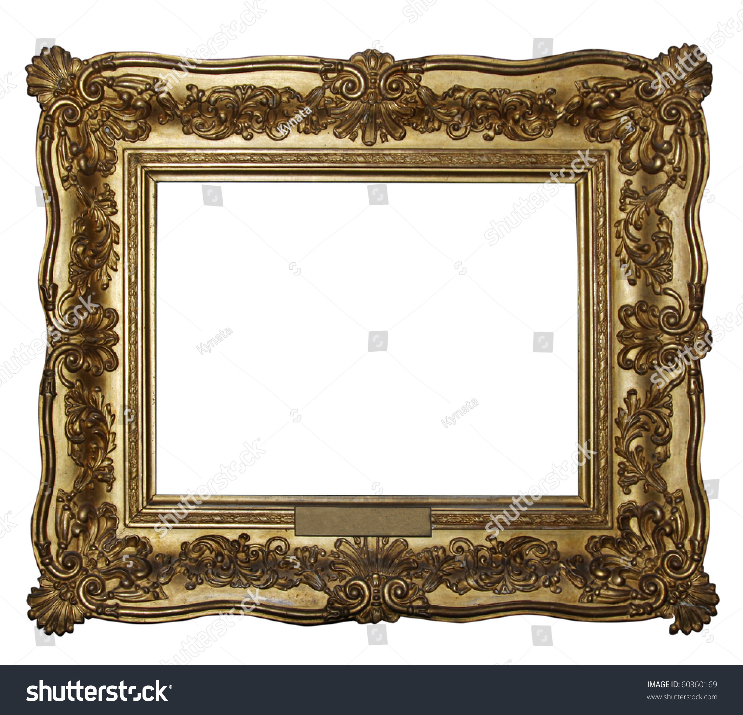 gold wooden frame from my frames collection