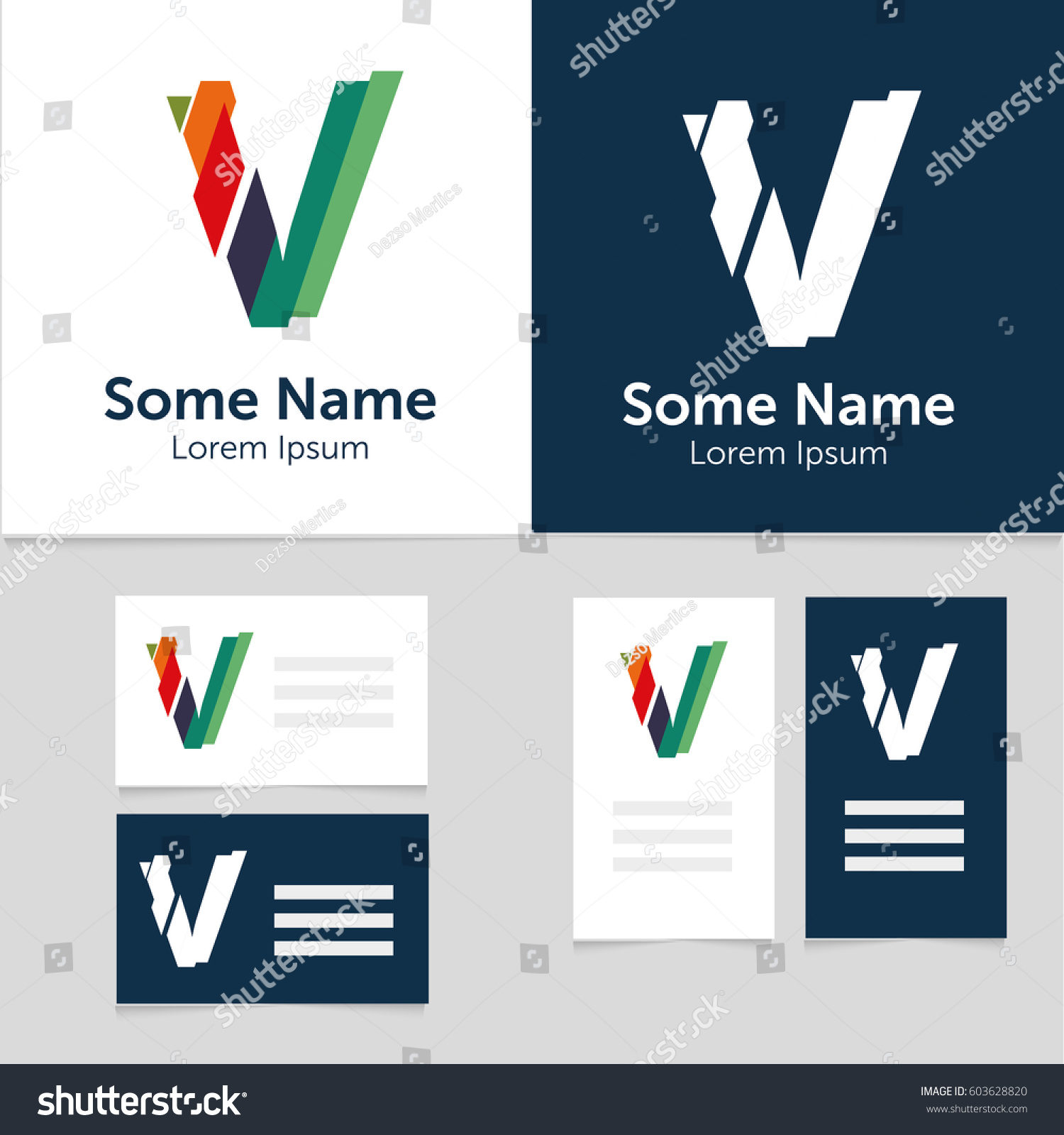 editable business card template v letter stock vector
