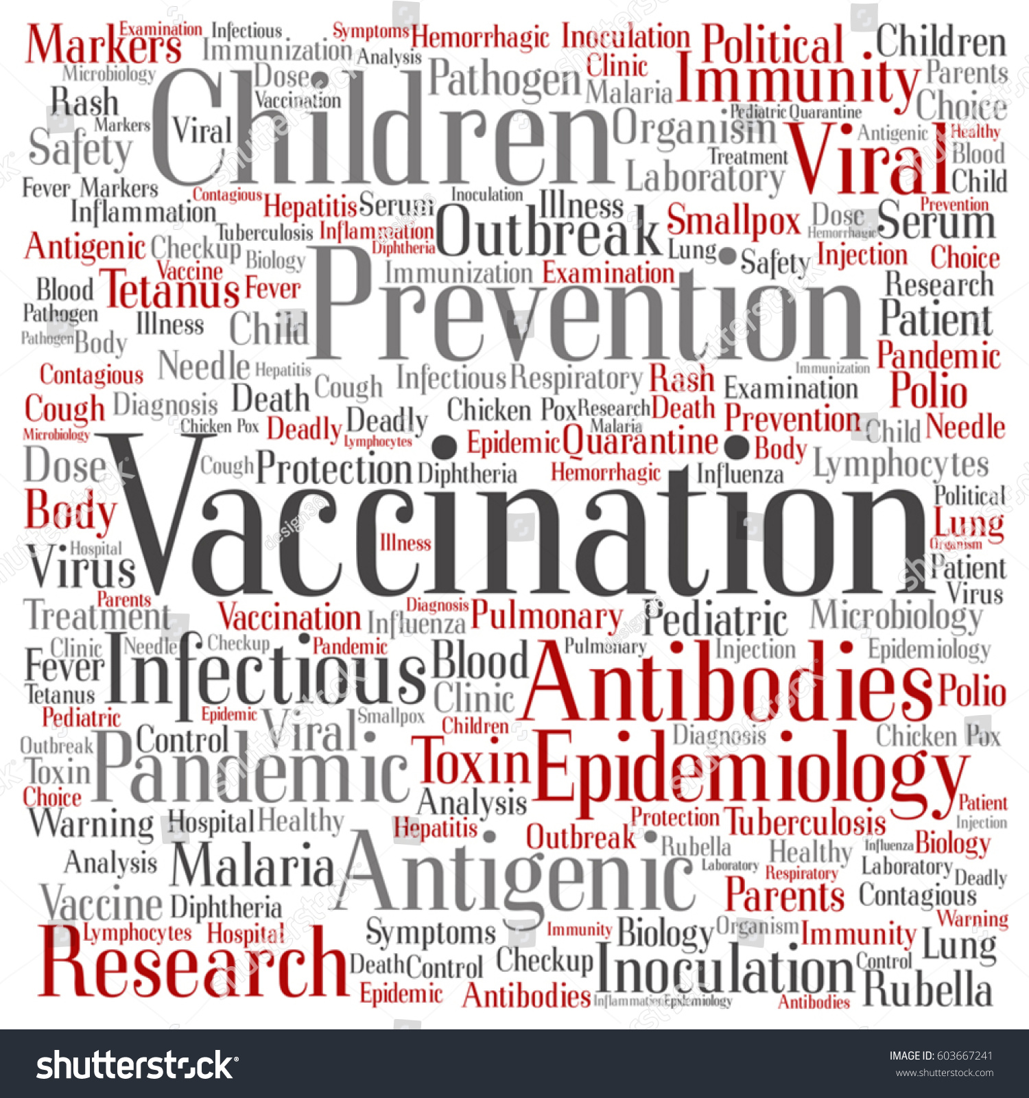 Viral Word: Vector Concept Conceptual Children Vaccination Viral Stock