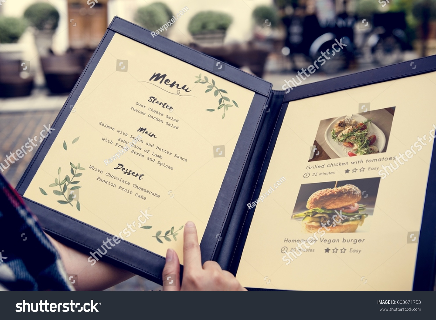 Homemade Food Menu Recipe Recommended Restaurant Stock Photo Edit Now 603671753
