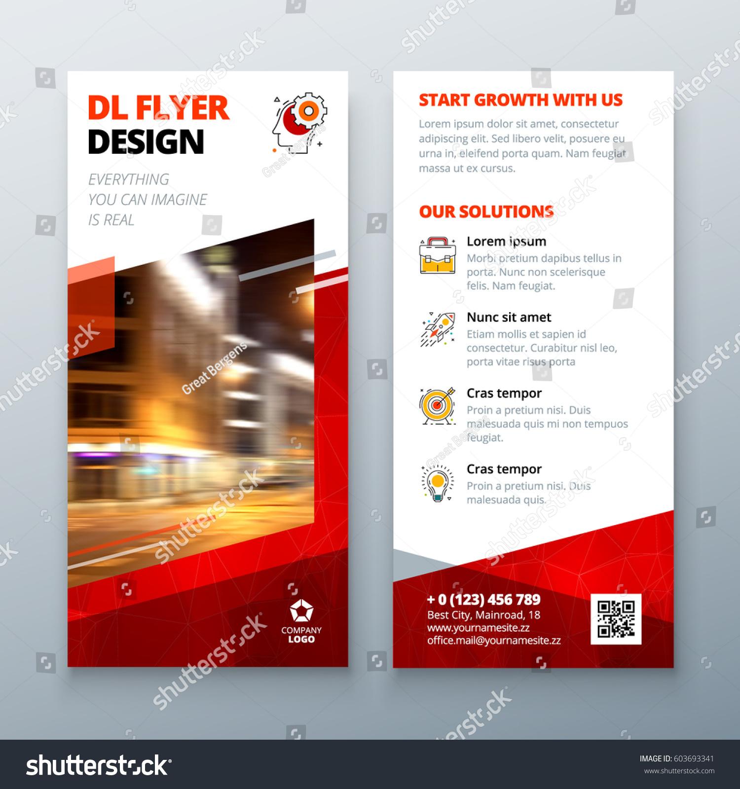 dl brochure template - dl flyer design layout dl corporate stock vector 603693341