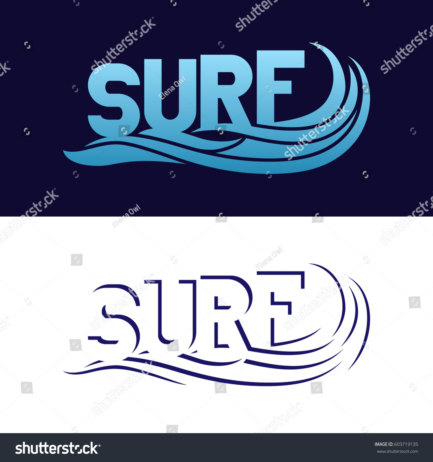Set Surfing Typography Posters Tshirt Fashion Stock Vector 603719135