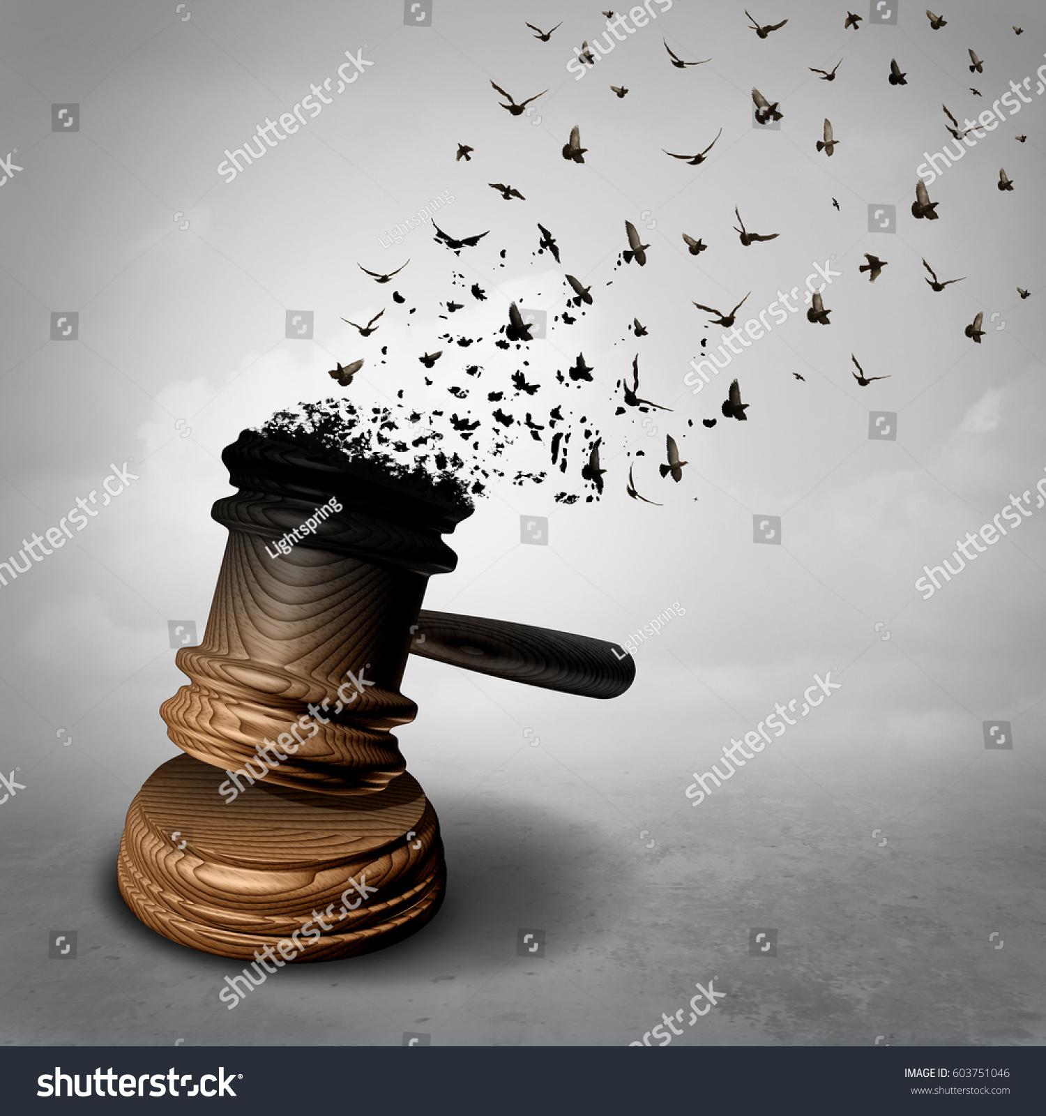 Amnesty Concept Law Decline Symbol Legal Stock Illustration