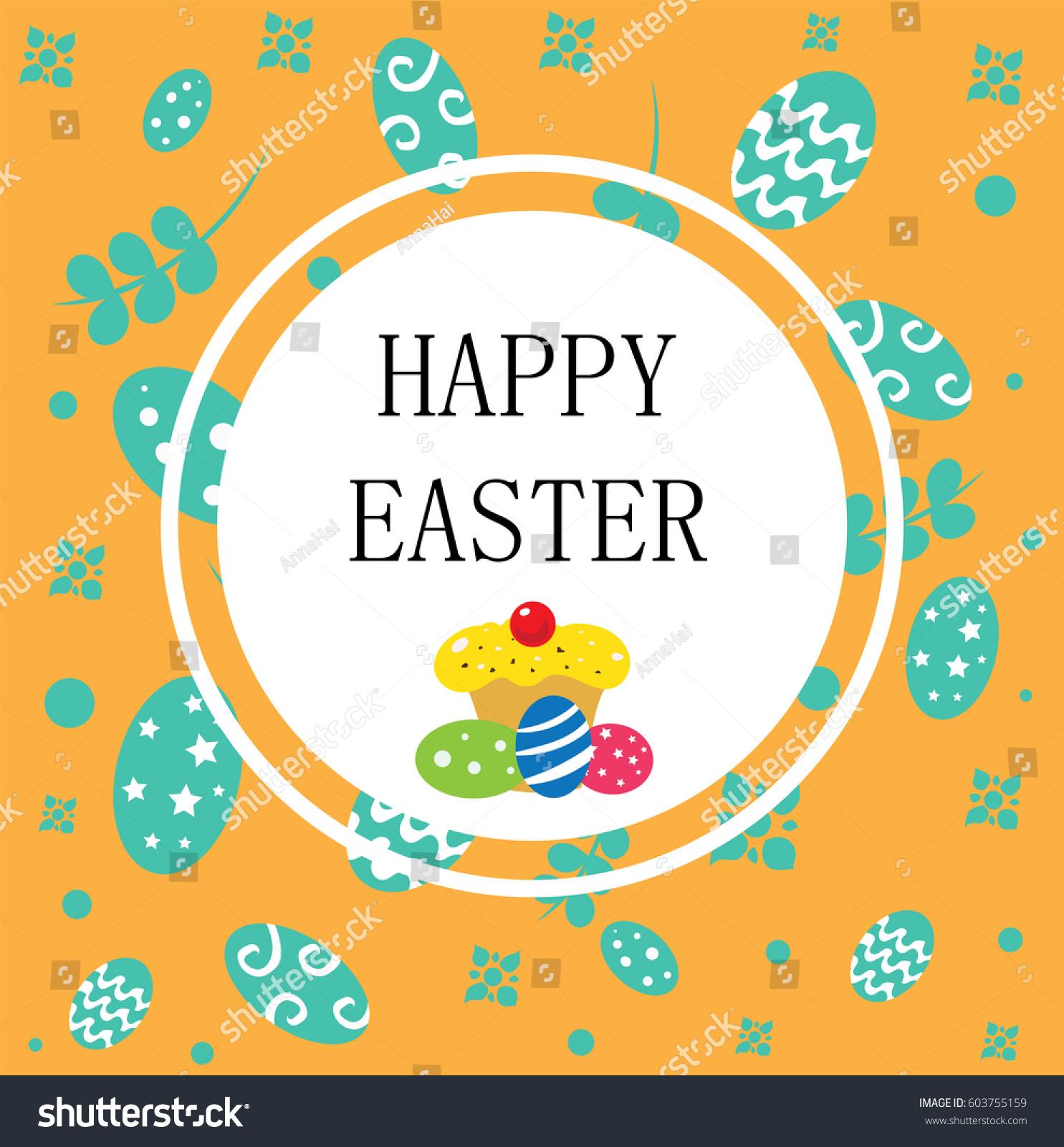 Happy Easter Stock Vector 603755159 - Shutterstock