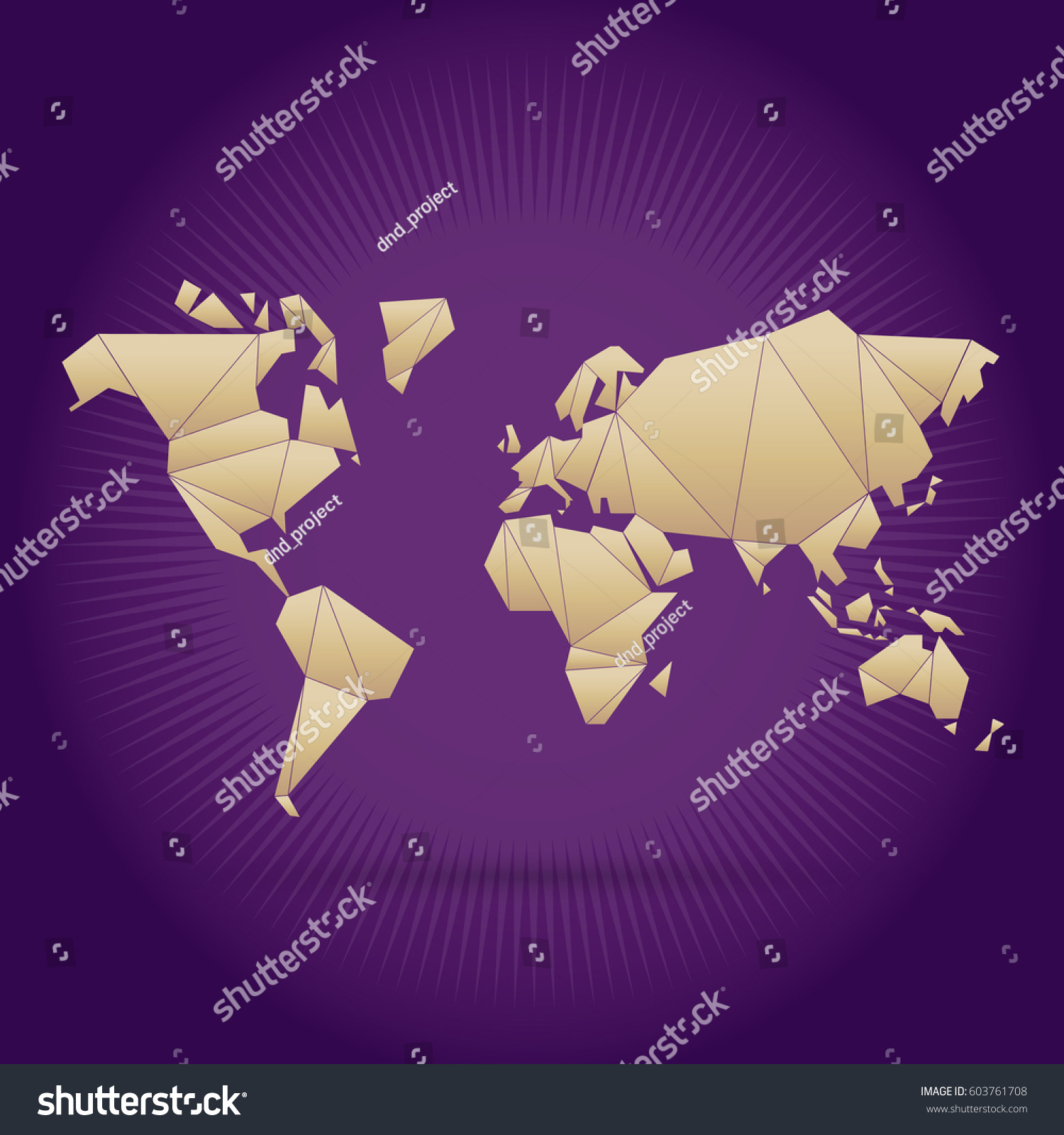Origami world map vector stock vector 603761708 shutterstock origami world map vector gumiabroncs Choice Image
