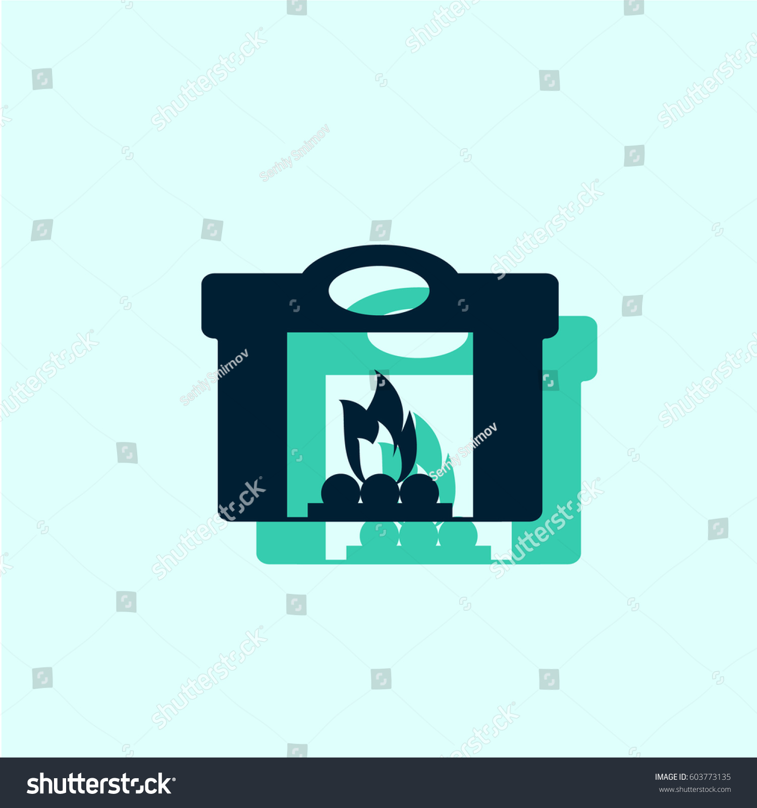 fireplace icon stock vector 603773135 shutterstock